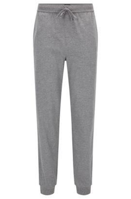 Pantalón loungewear con cordón en punto sencillo, Gris