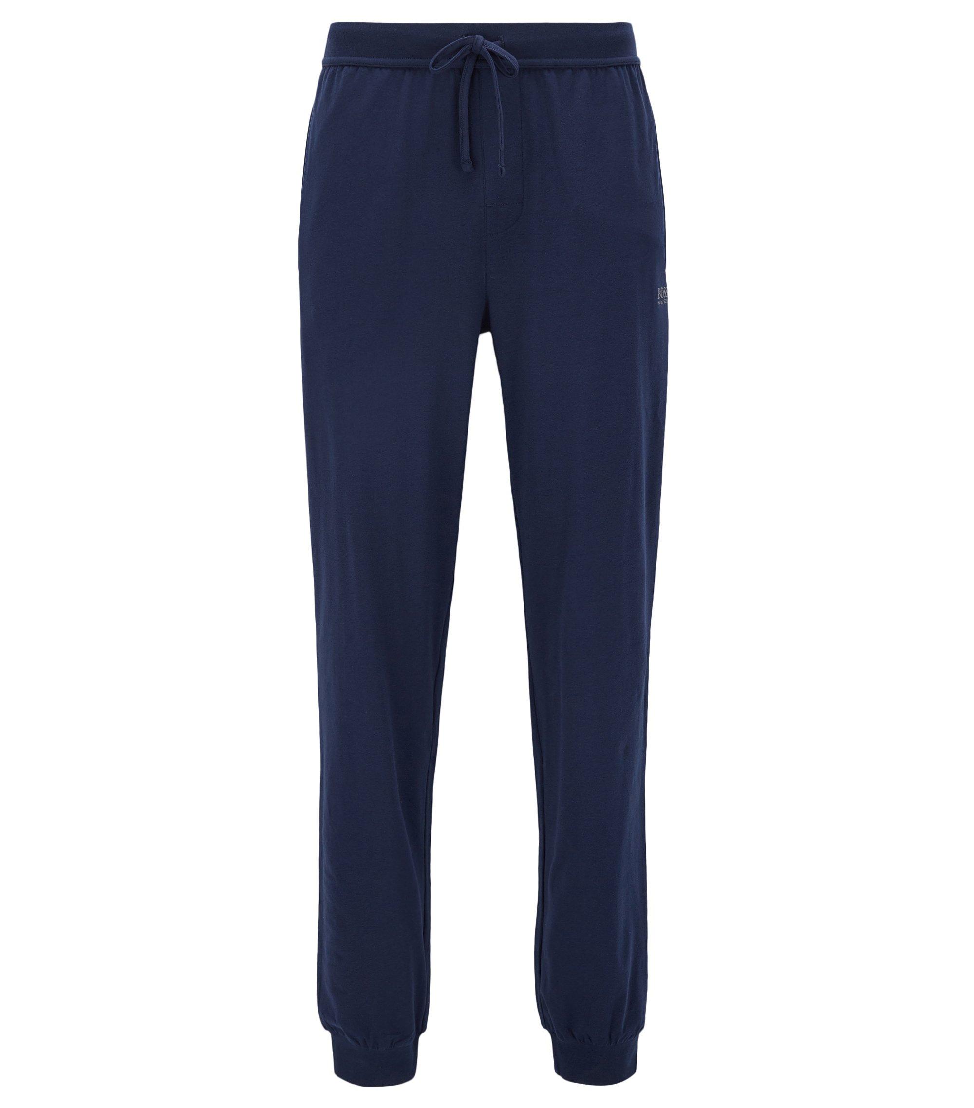 Pantalón loungewear con cordón en punto sencillo, Azul oscuro