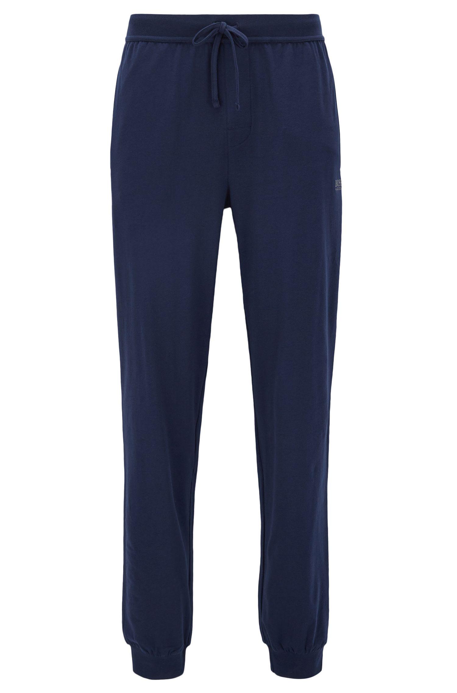 Pantalón loungewear con cordón en punto sencillo