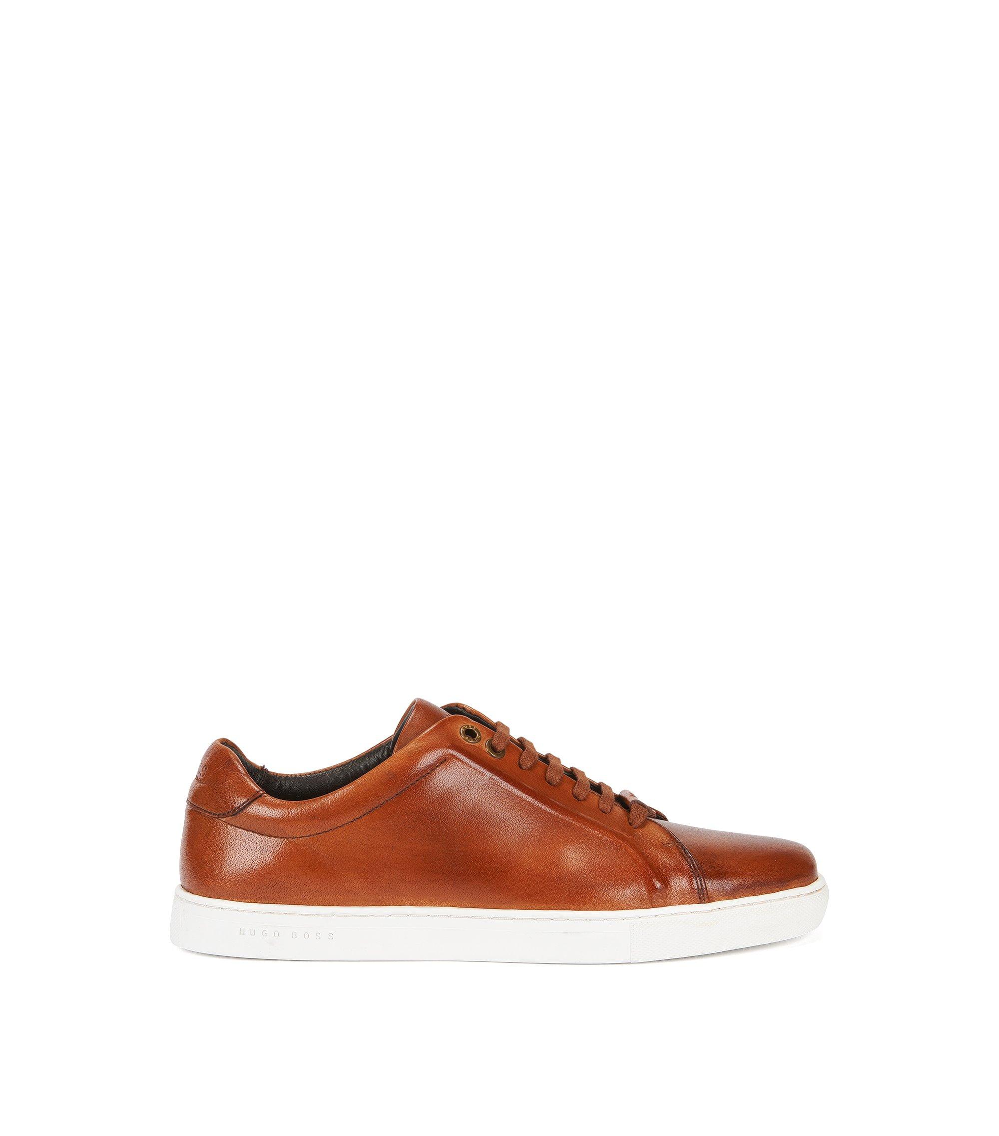Sneakers aus Leder, Braun