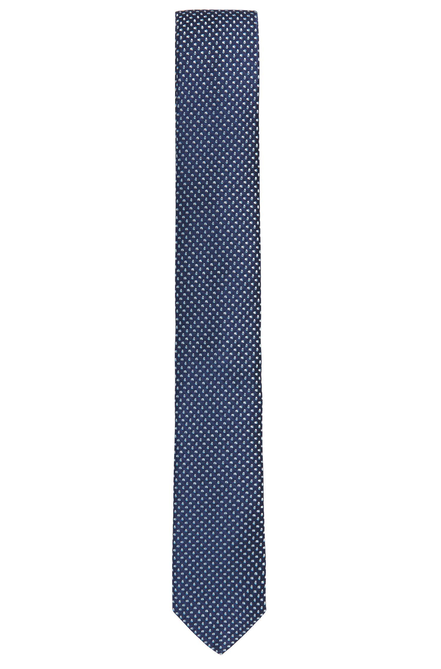 Cravate en jacquard de soie fine à motif