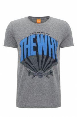 T-shirt Regular Fit en coton mélangé, Bleu foncé