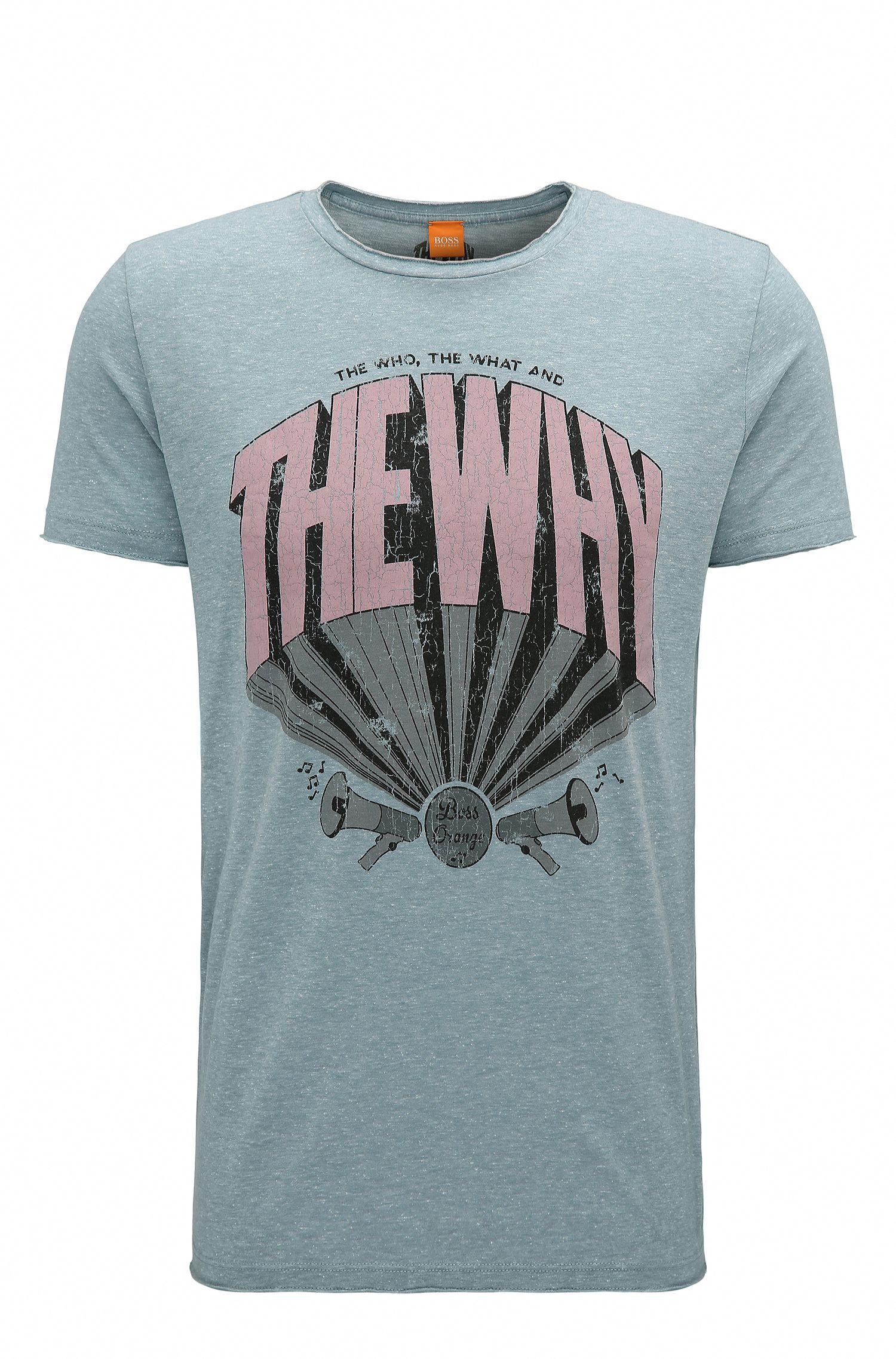 Regular-fit cotton-blend T-shirt