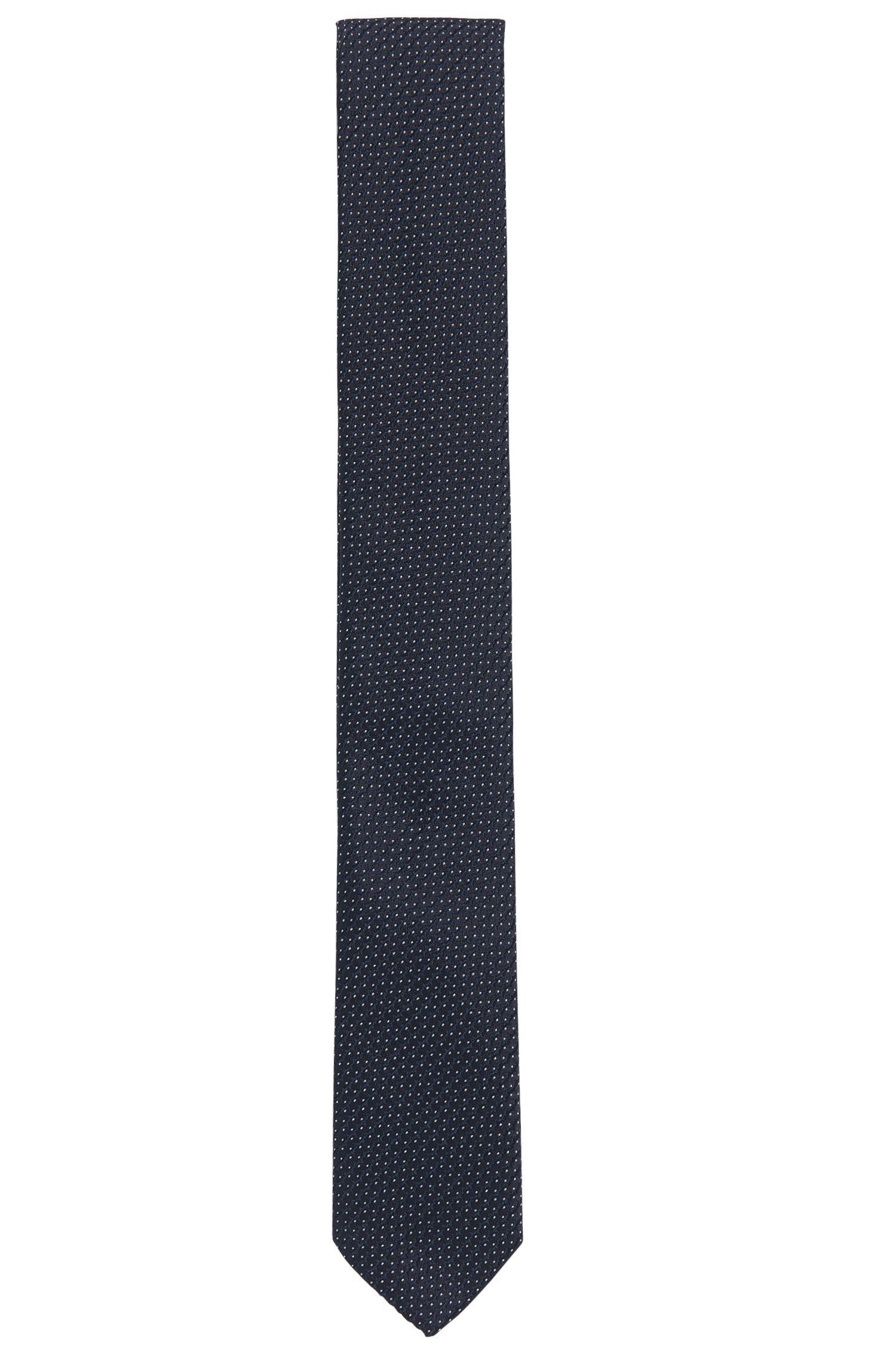 Corbata de jacquard en seda con patrón de efecto 3D
