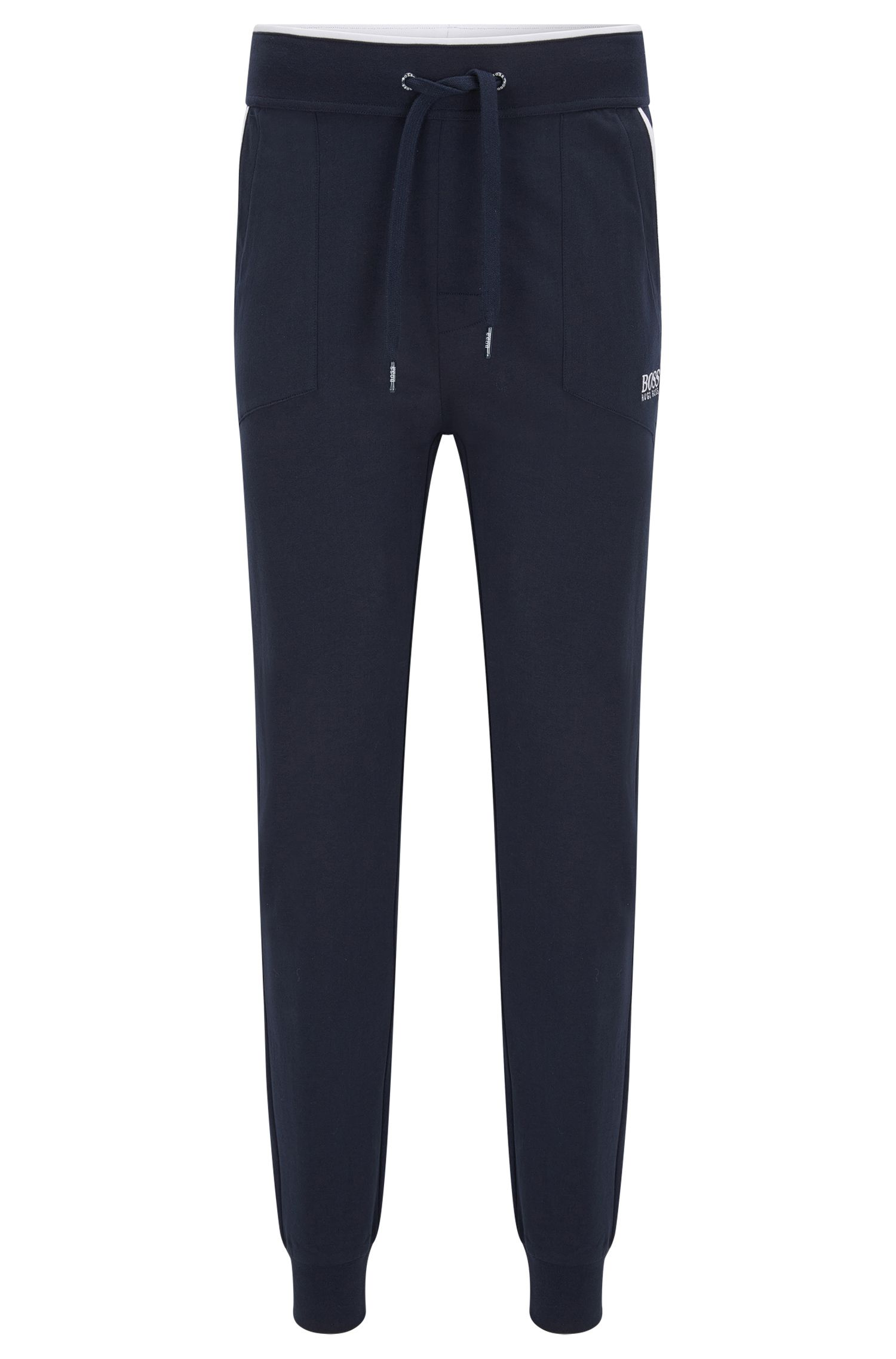 Pantalon d'intérieur en jersey avec poches appliquées et passepoil contrasté