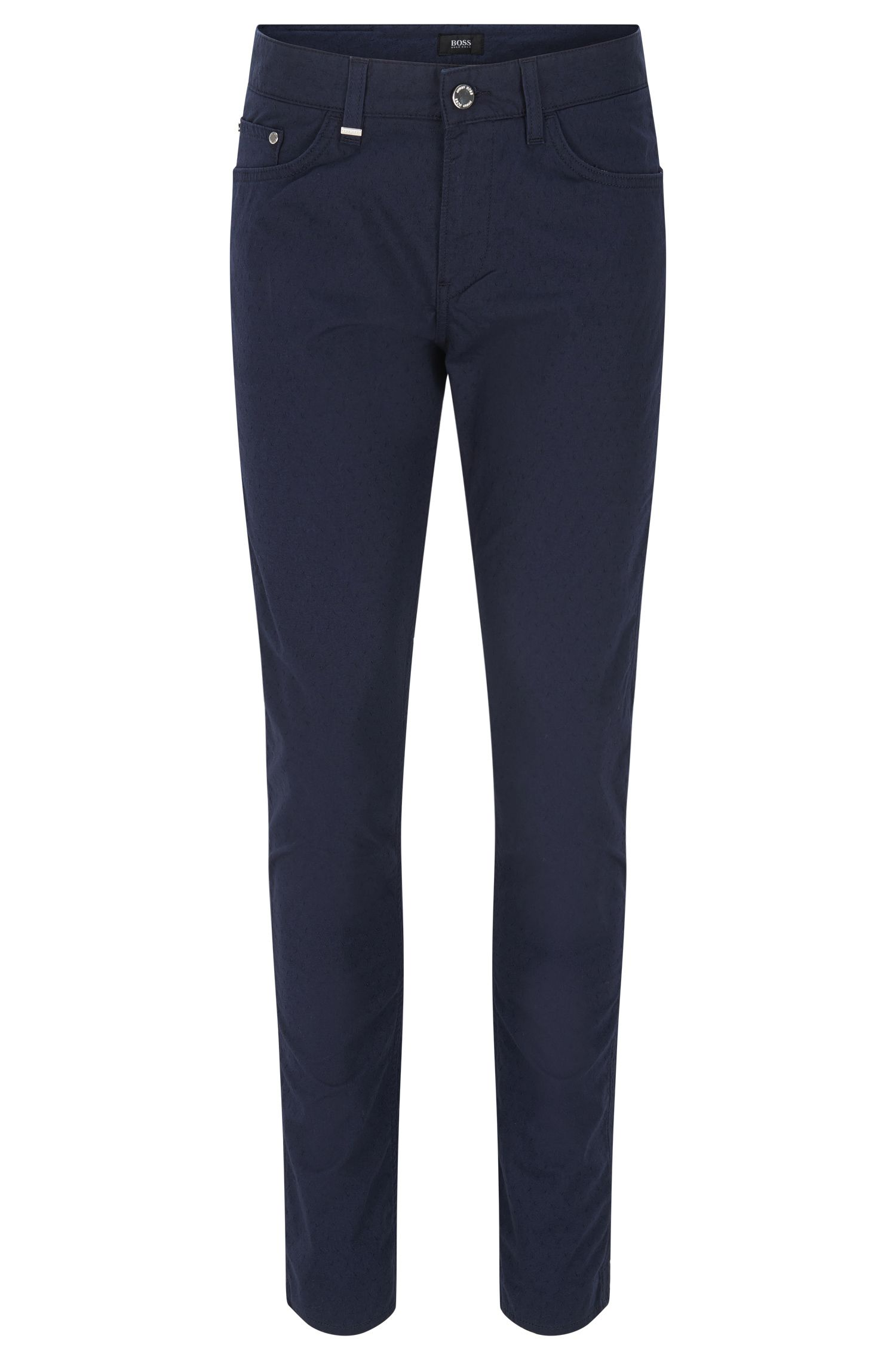 Jeans slim fit in denim con trama micro jacquard