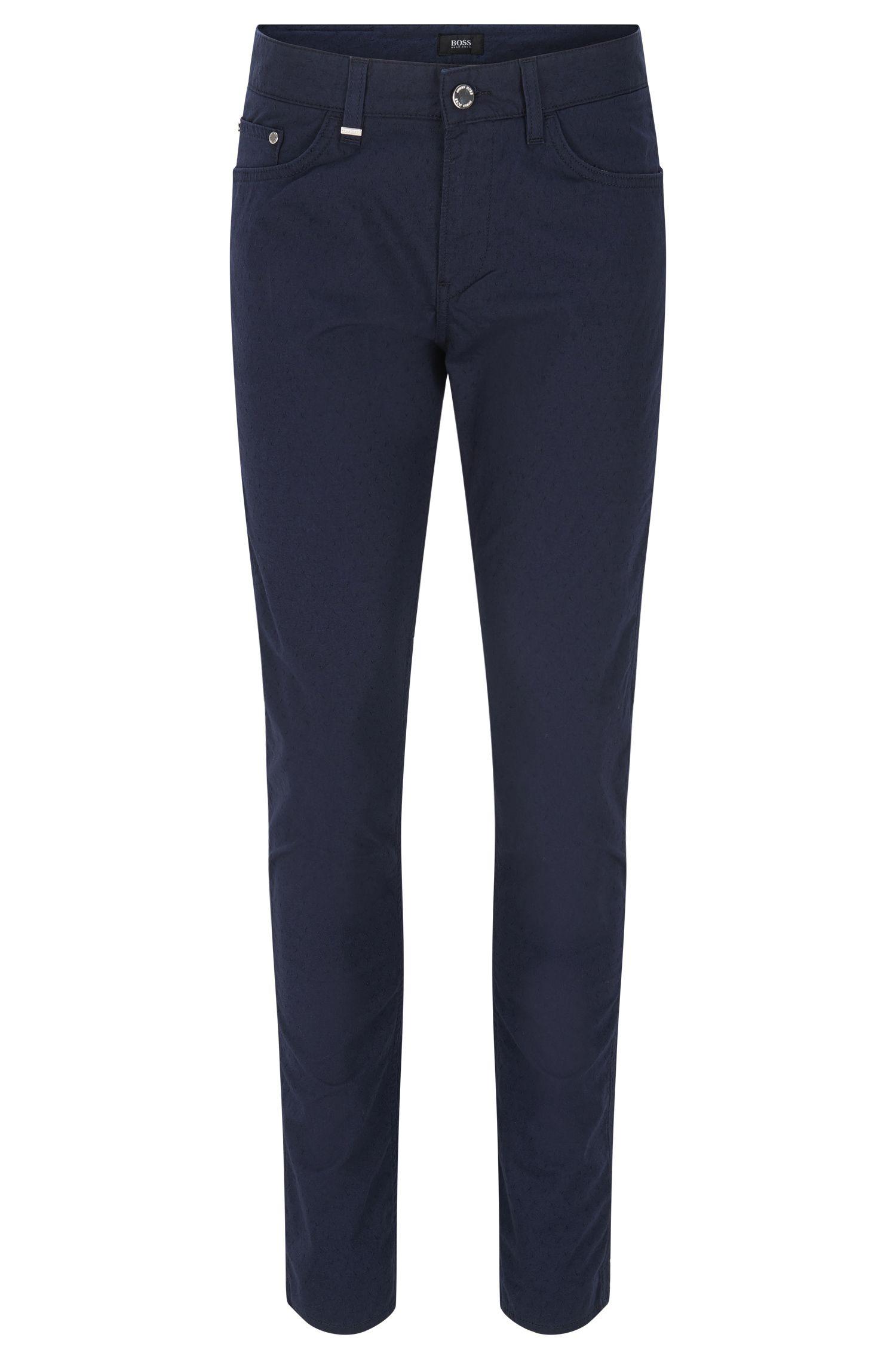 Jeans Slim Fit en denim micro jacquard