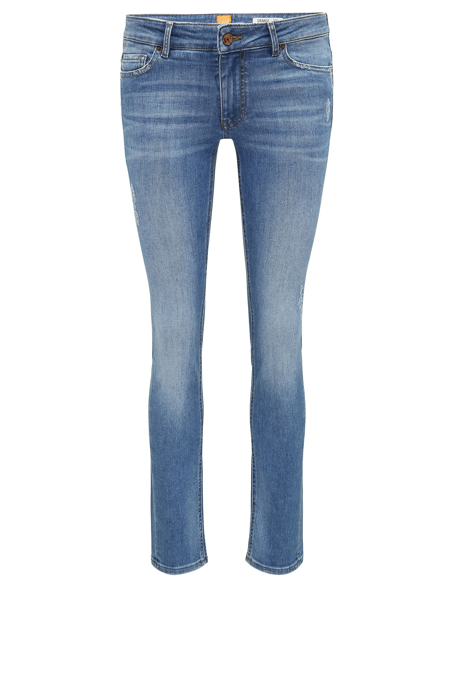 Slim-Fit Jeans aus komfortablem Stretch-Denim im Destroyed-Look