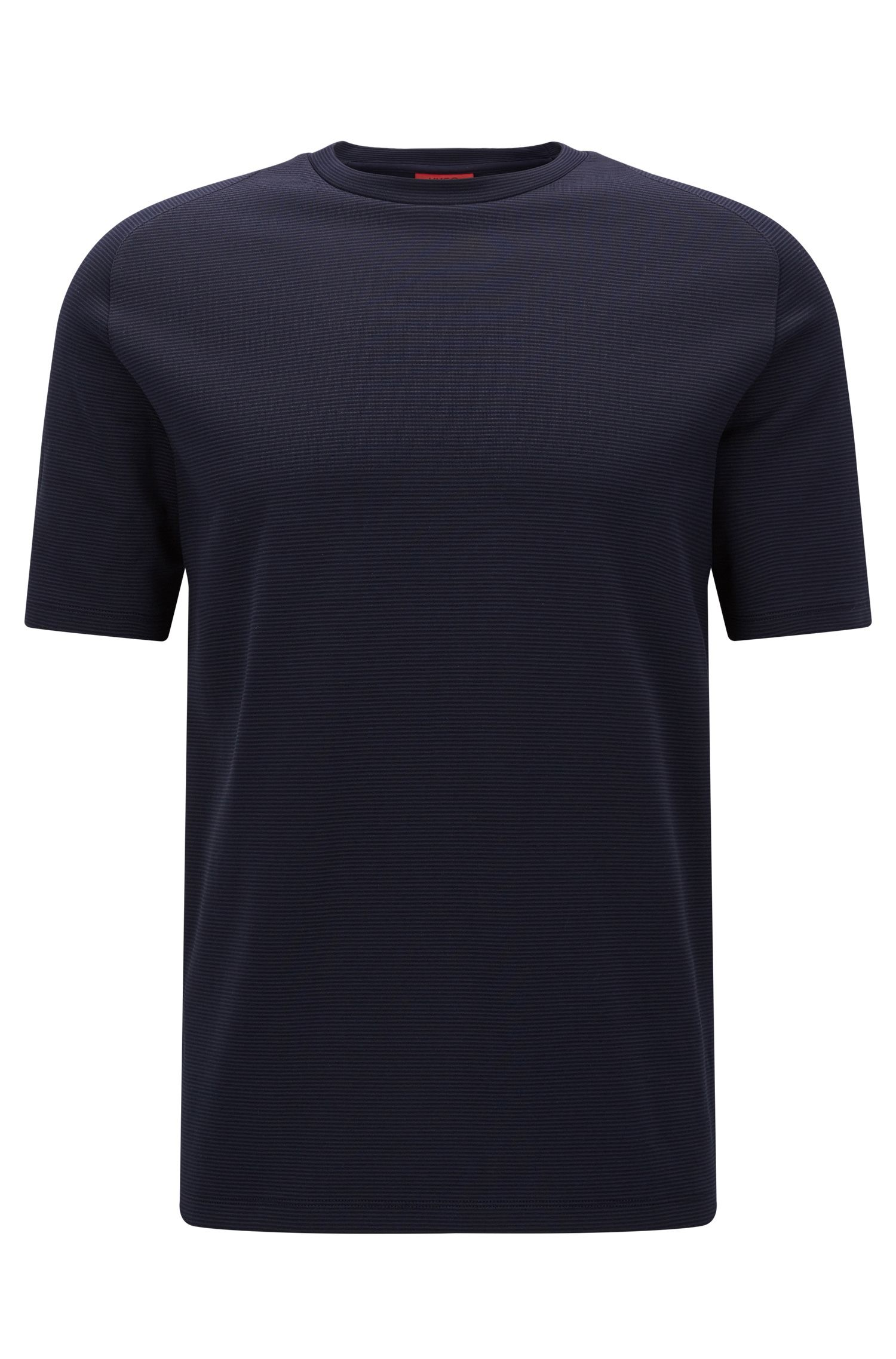 Relaxed-fit T-shirt in double-faced fabric