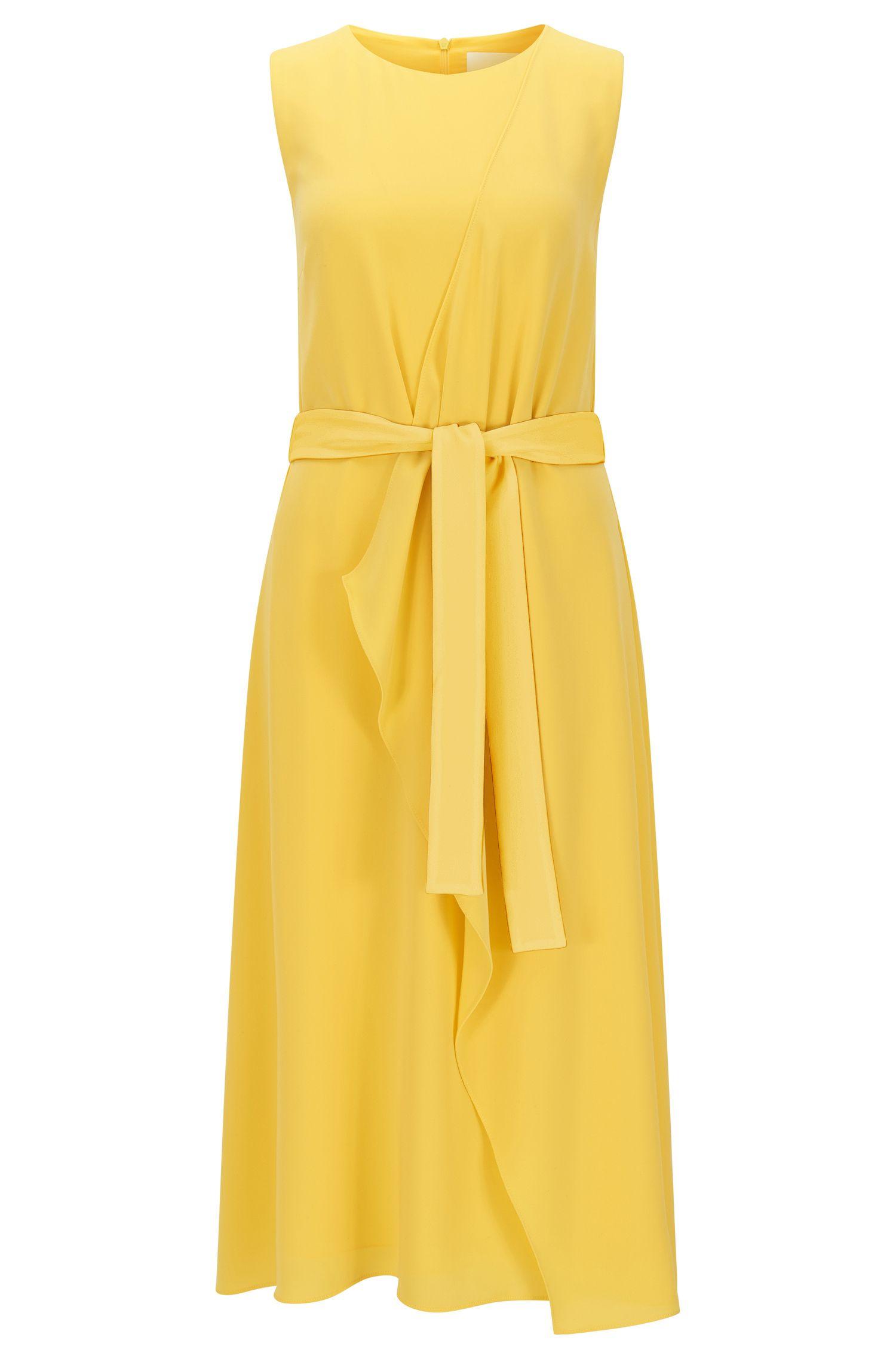 Gelaagde relaxed-fit jurk van middelzwaar materiaal