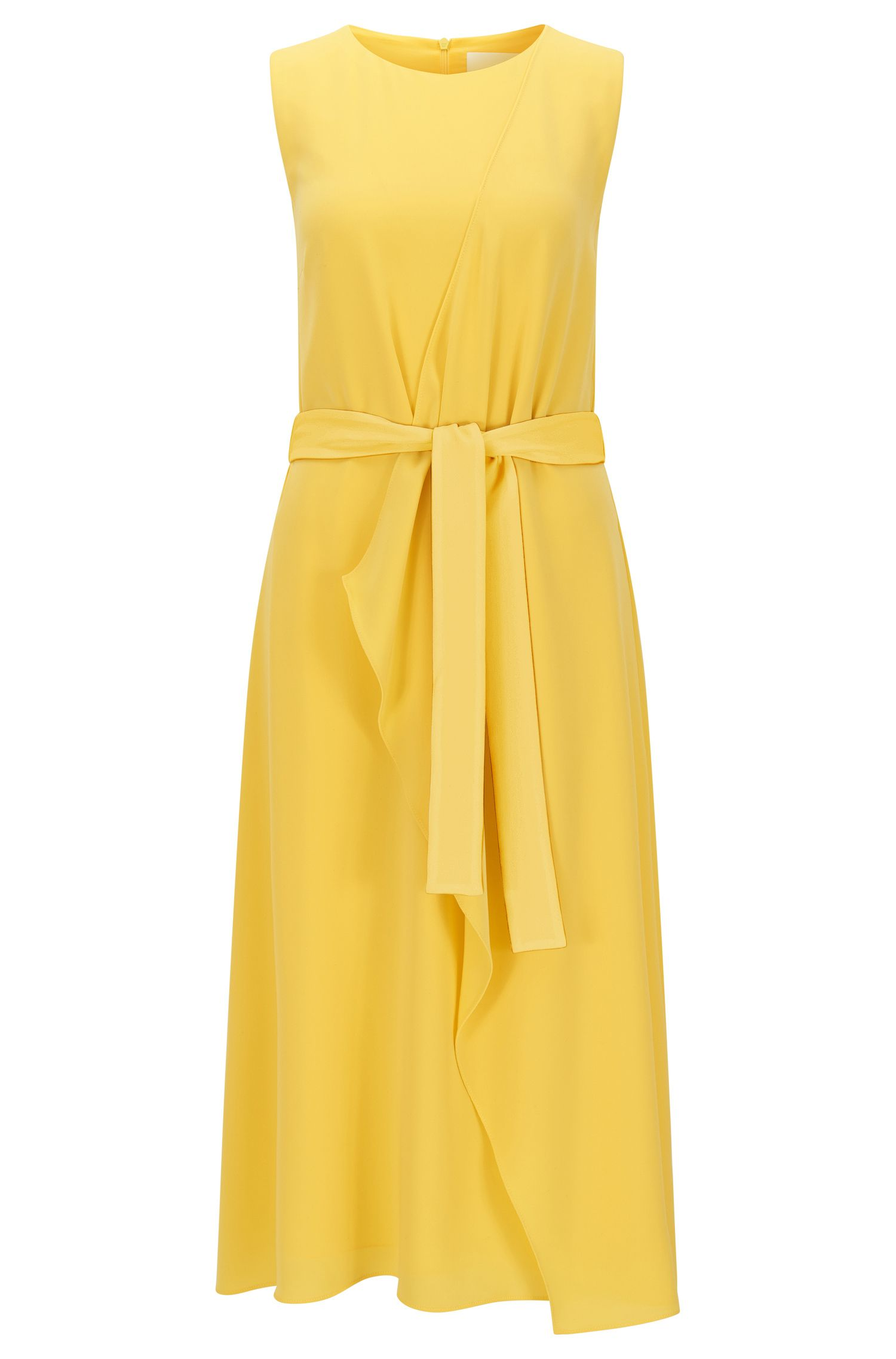 Relaxed-fit layered dress in mid-weight fabric