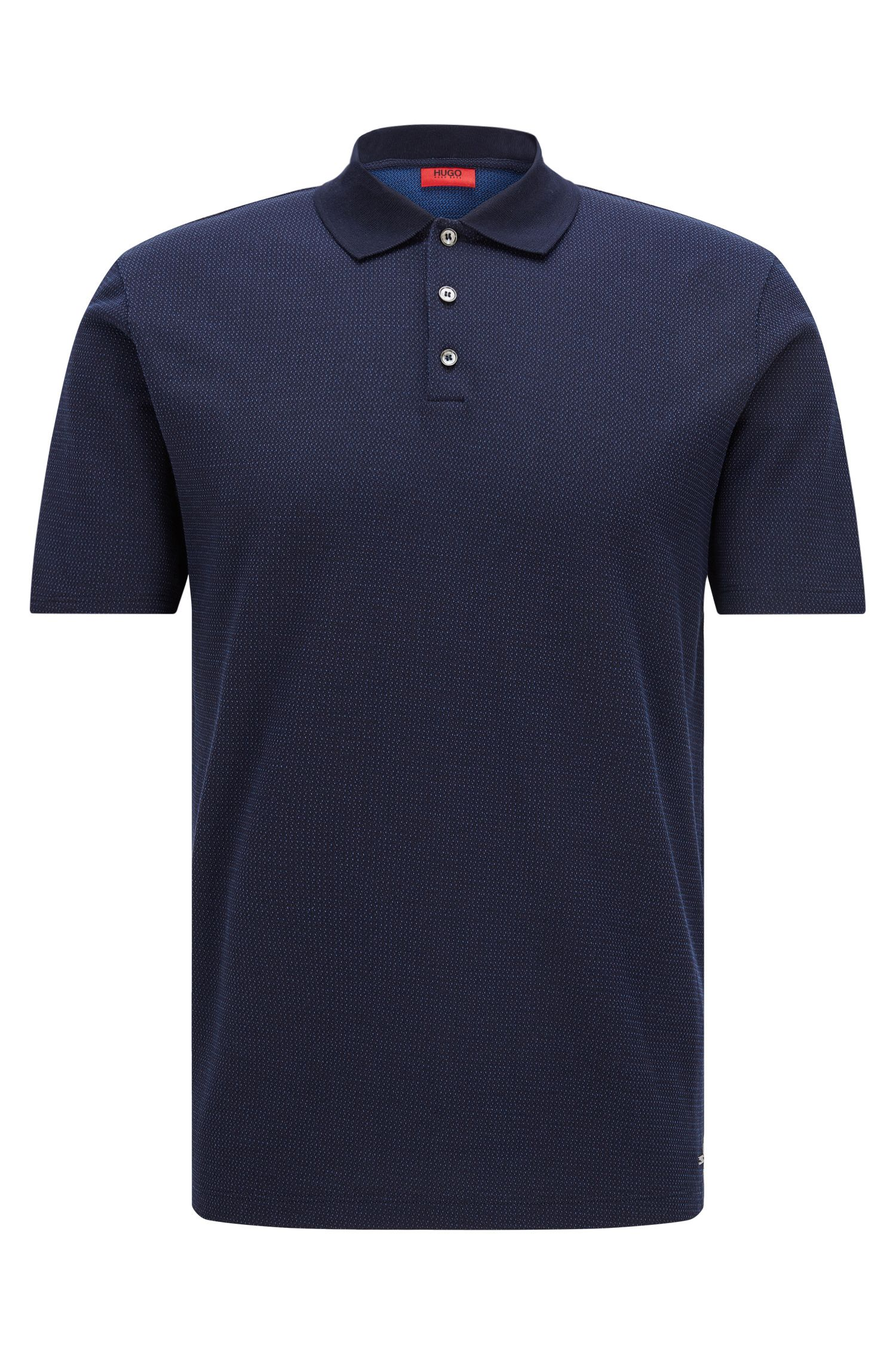 Regular-fit poloshirt van jacquardkatoen