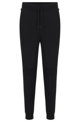 Regular-fit sweatbroek van interlocked katoen, Zwart