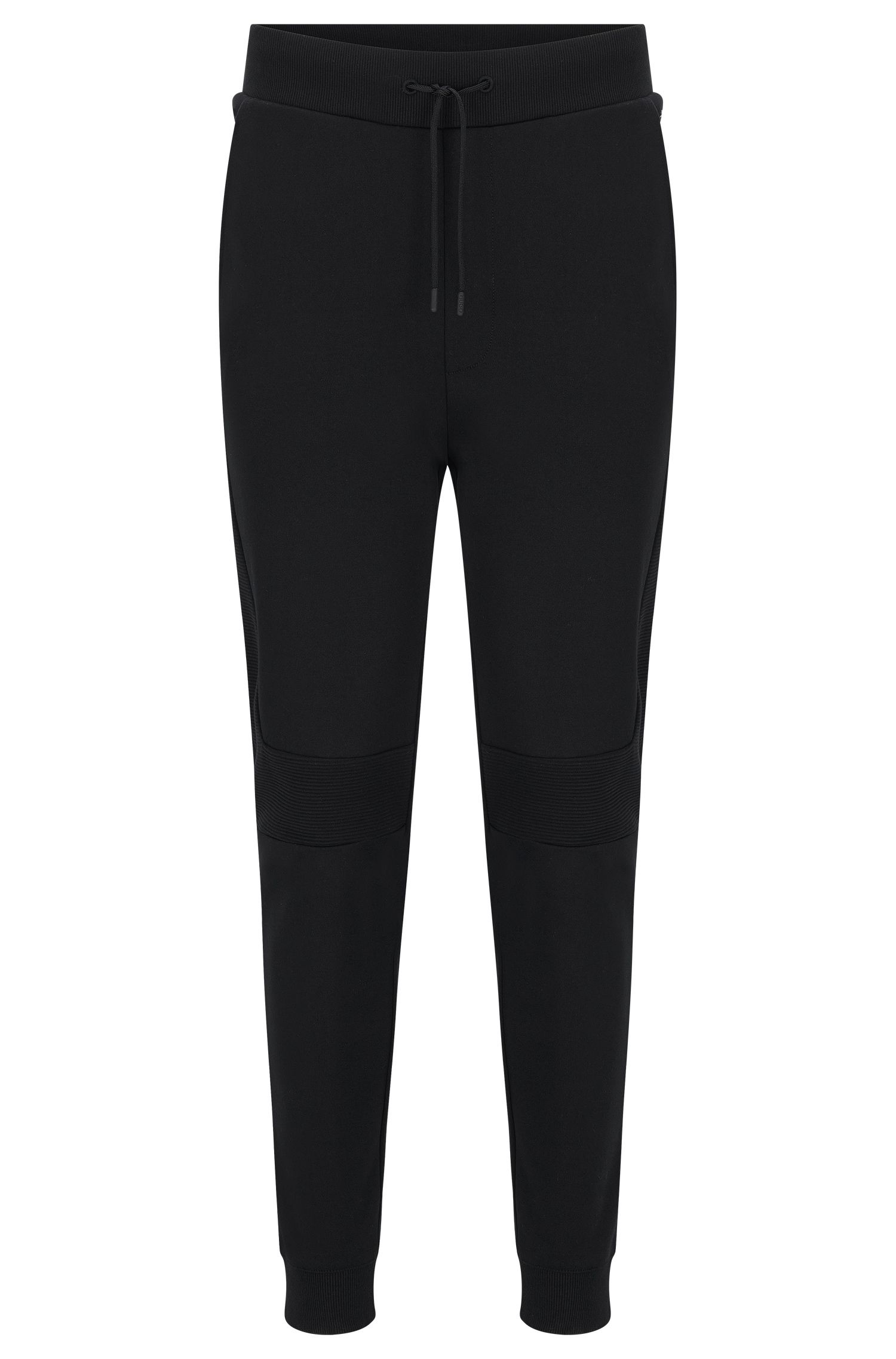 Regular-fit sweat trousers in interlock cotton
