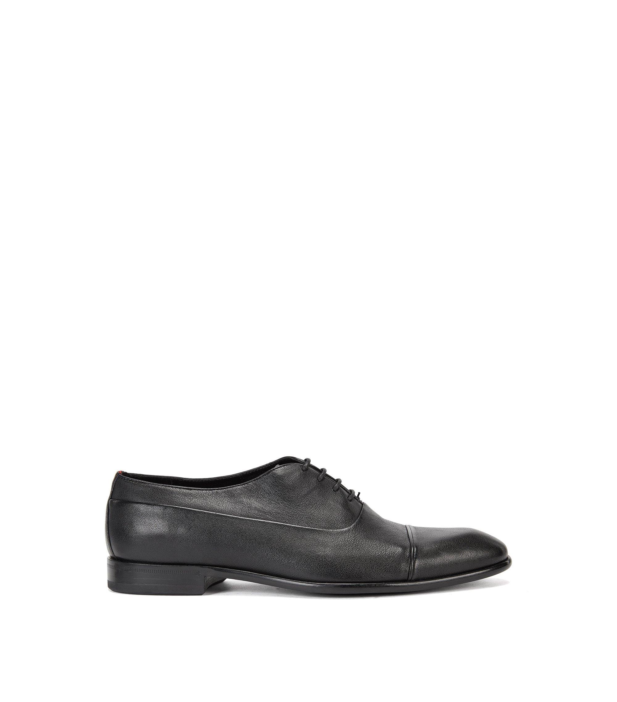Chaussures Oxford en cuir, à passepoil , Noir