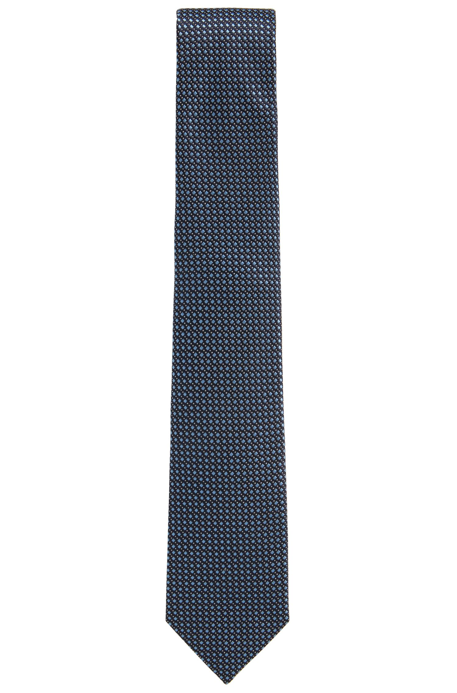 Made in Italy jacquard tie in patterned silk