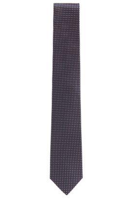 Corbata de jacquard elaborada en Italia en seda de fantasía , Rosa claro