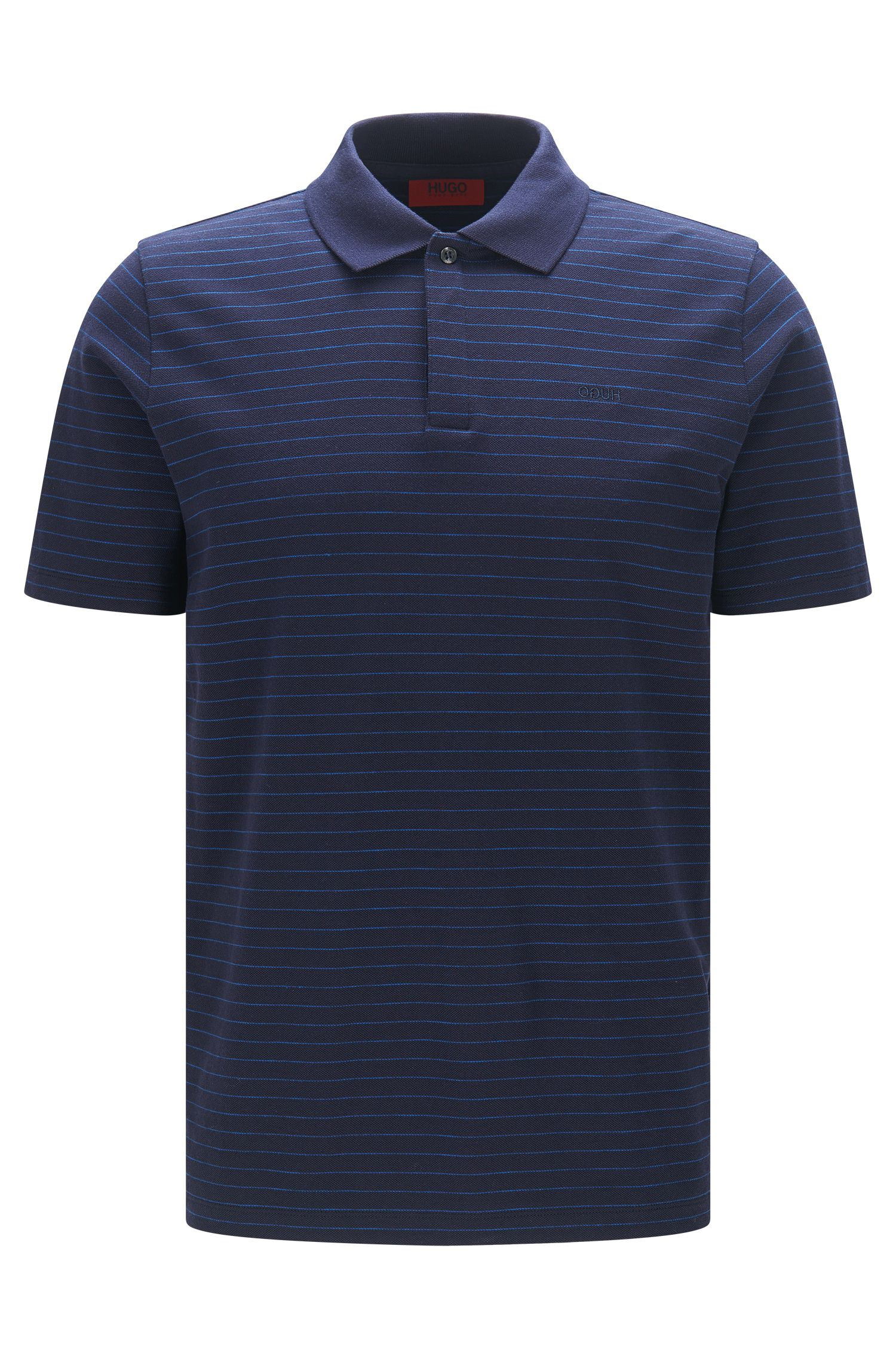 Polo regular fit in piqué a righe