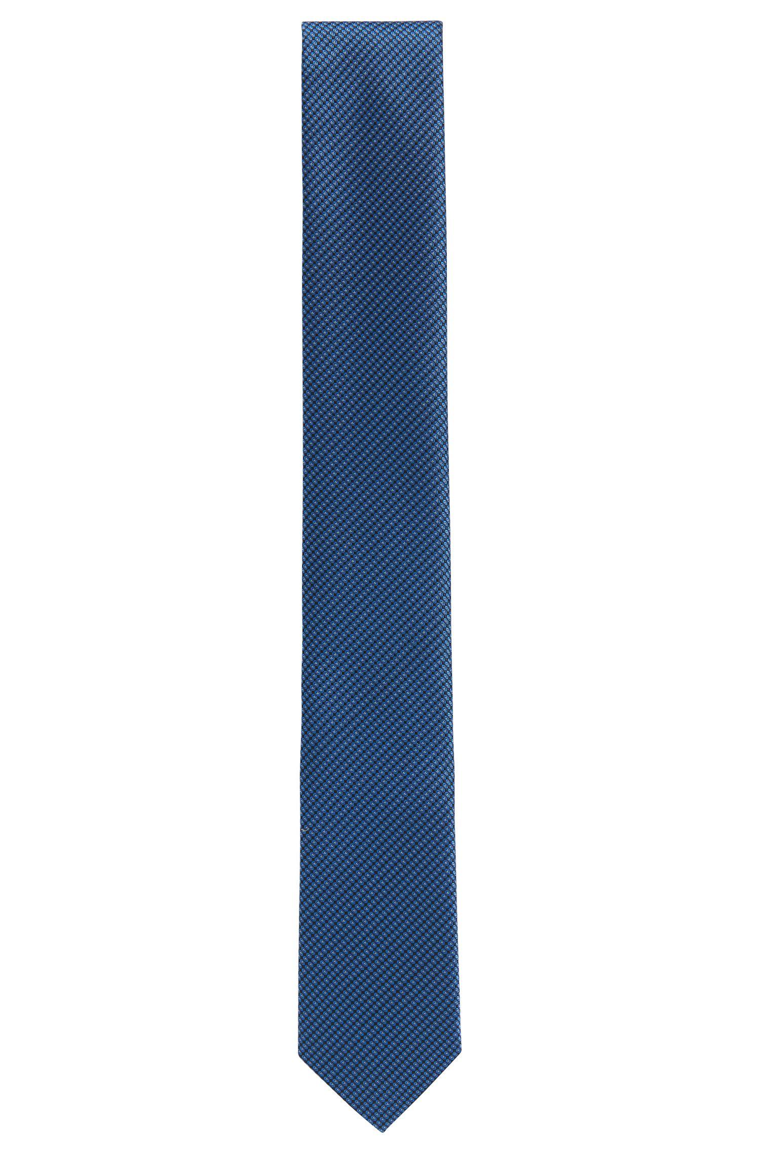 Patterned tie in fine silk jacquard