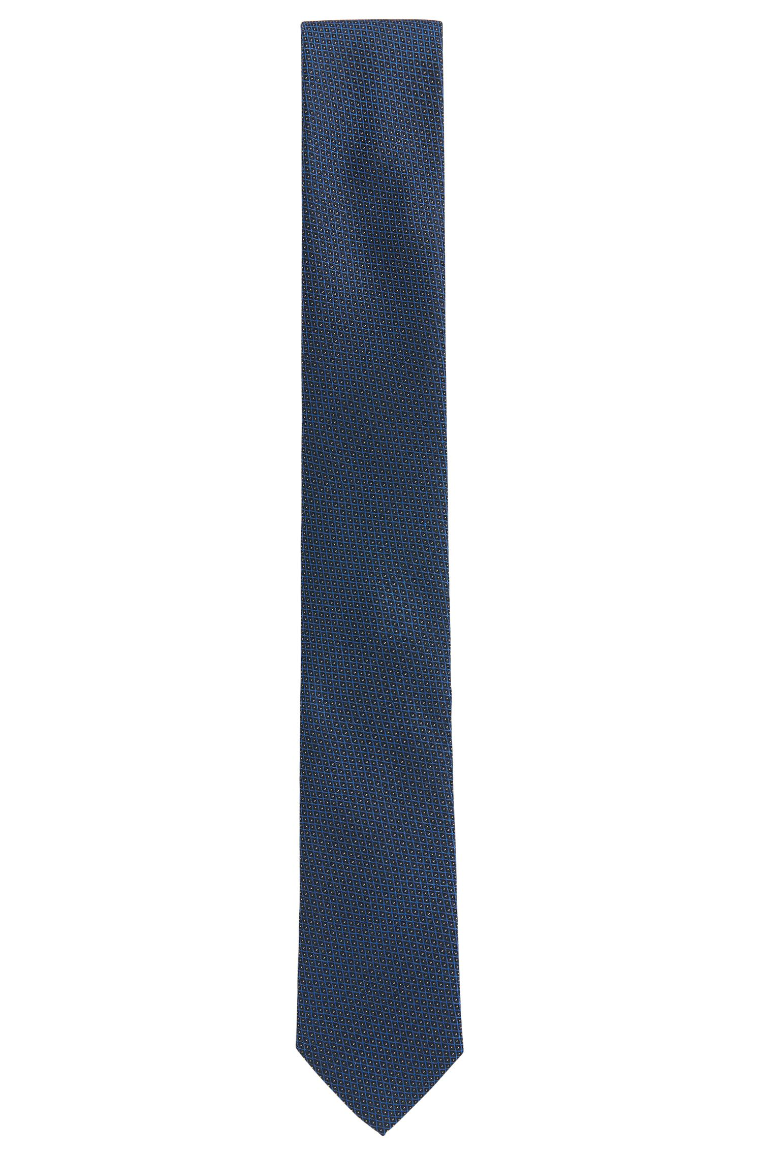 Patterned tie in fine silk jacquard