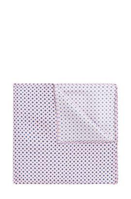 Diamond-print pocket square in fine silk, light pink