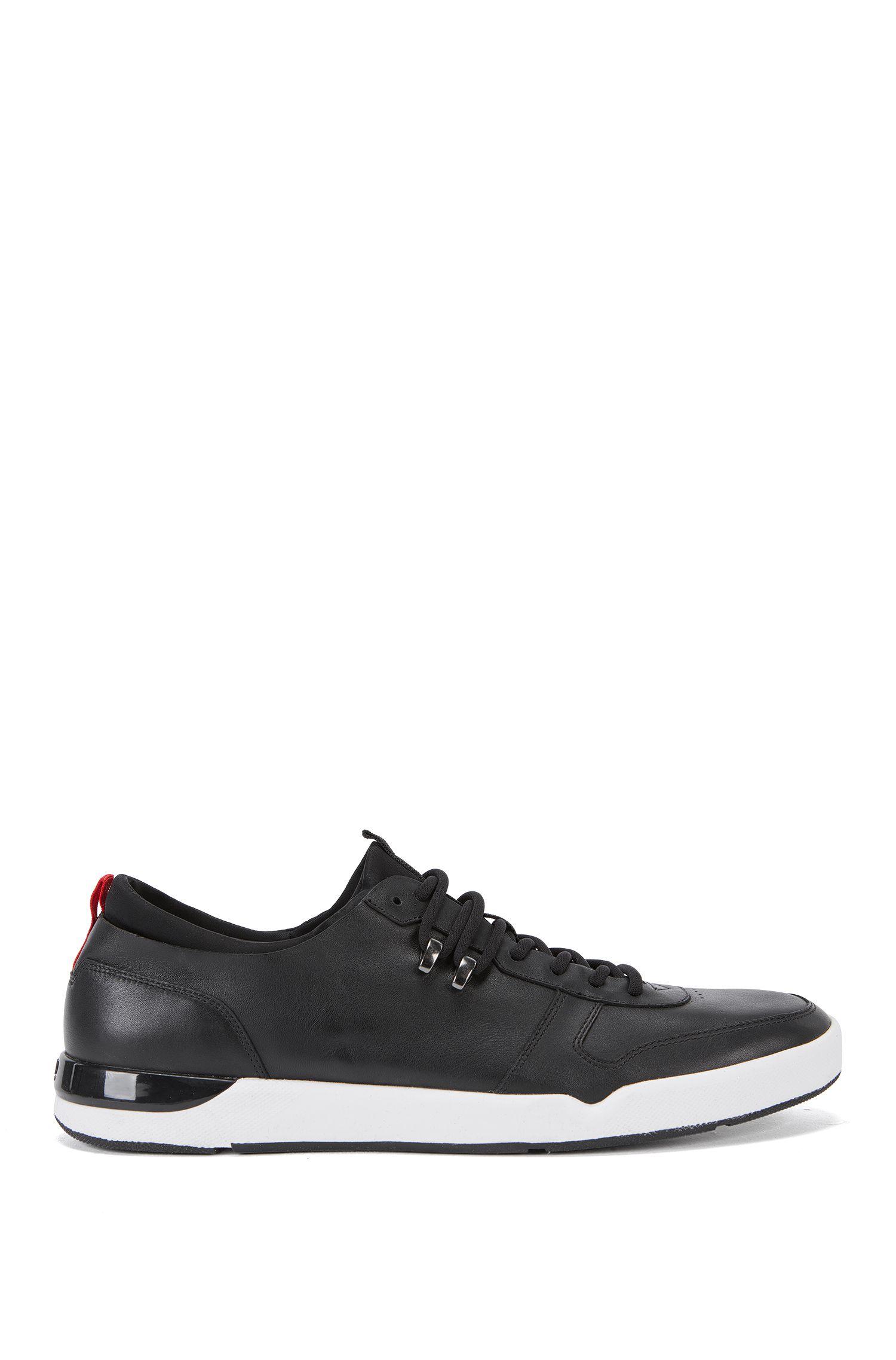 Sneakers aus Nappaleder mit Naht-Details