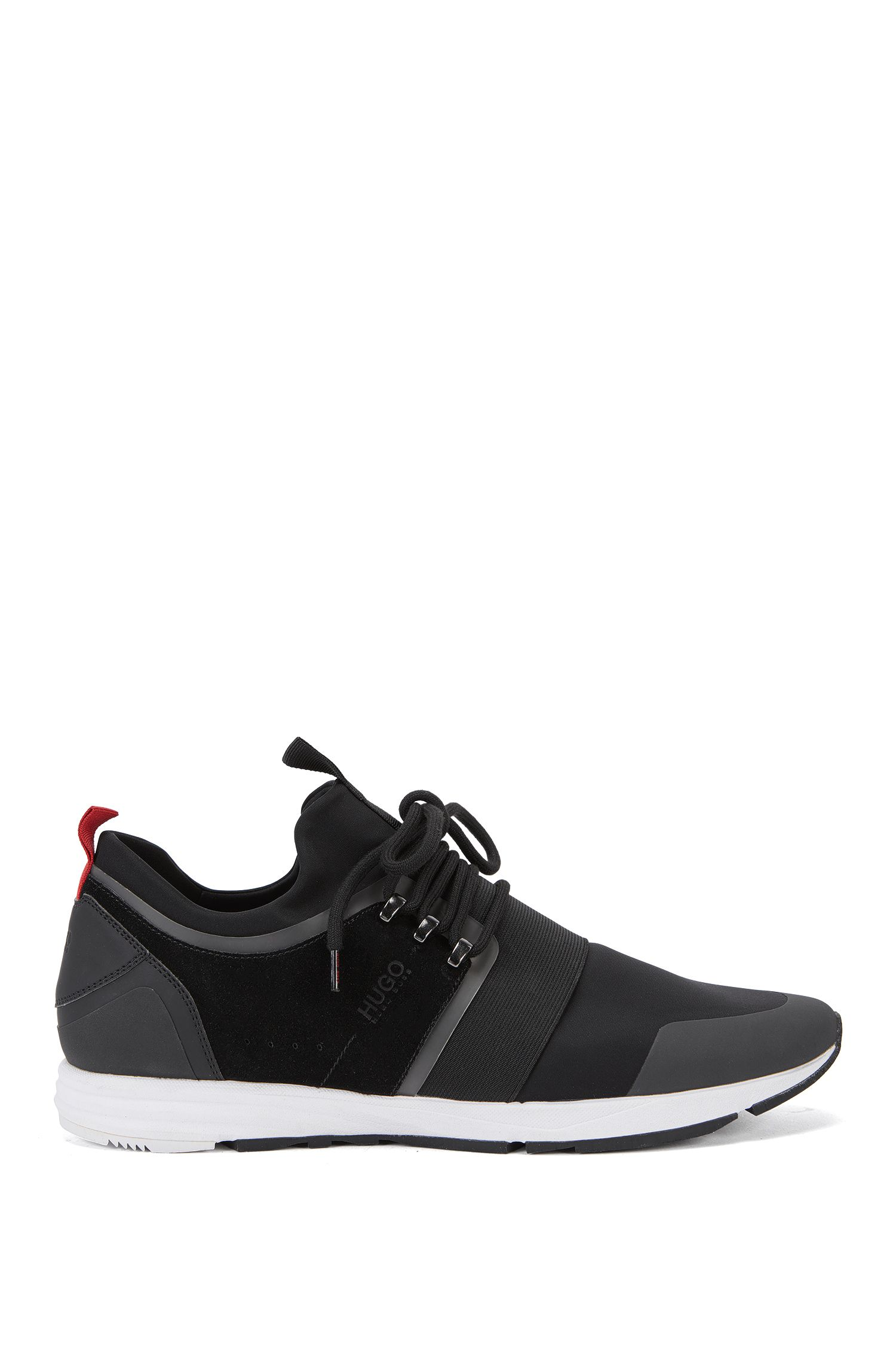 Sneakers met Vibram-zool en elastisch banddetail