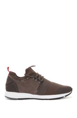 Sneakers mit Vibram-Sohle und elastischem Riemen, Dunkelbraun