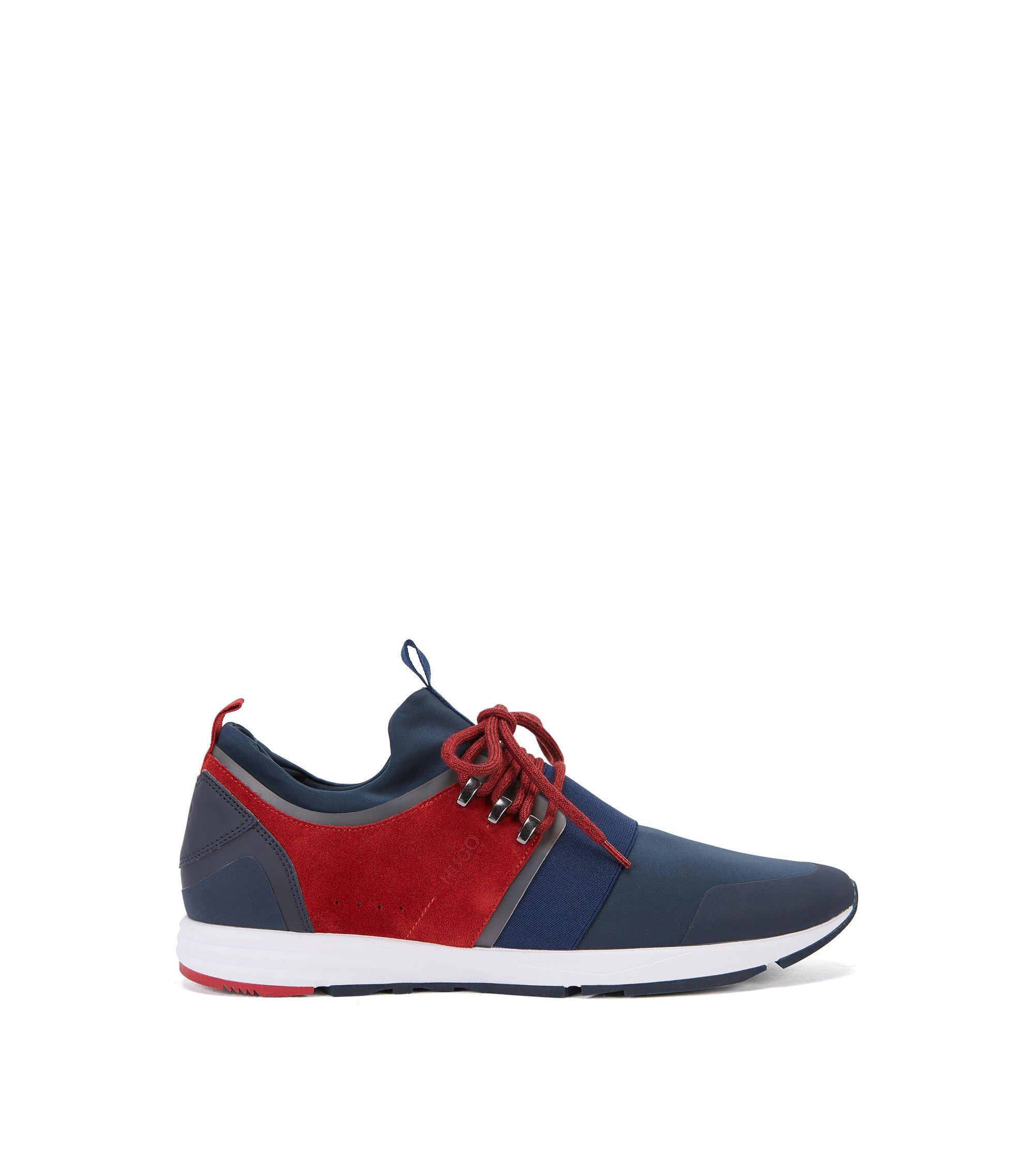 Sneakers met Vibram-zool en elastisch banddetail, Blauw