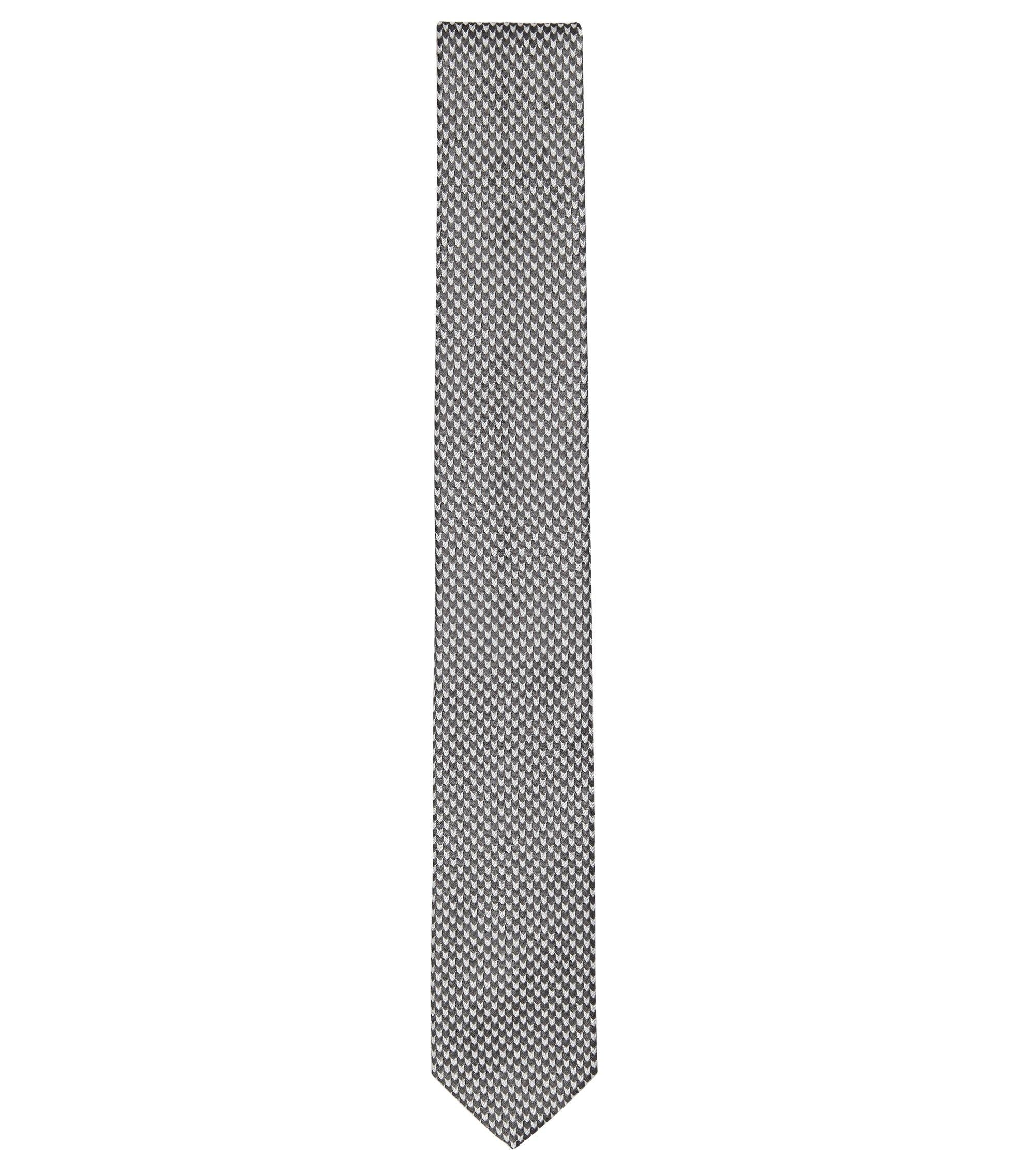 Cravate jacquard en soie à micro-motif , Noir