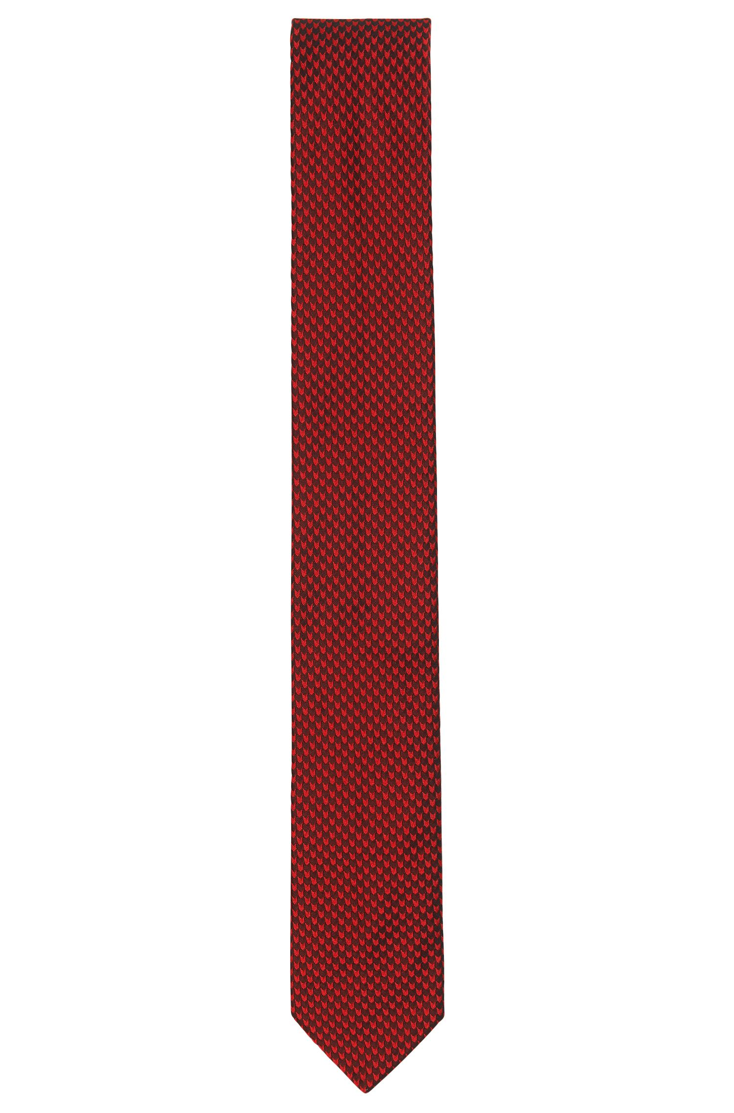 Jacquard tie in silk with micro pattern