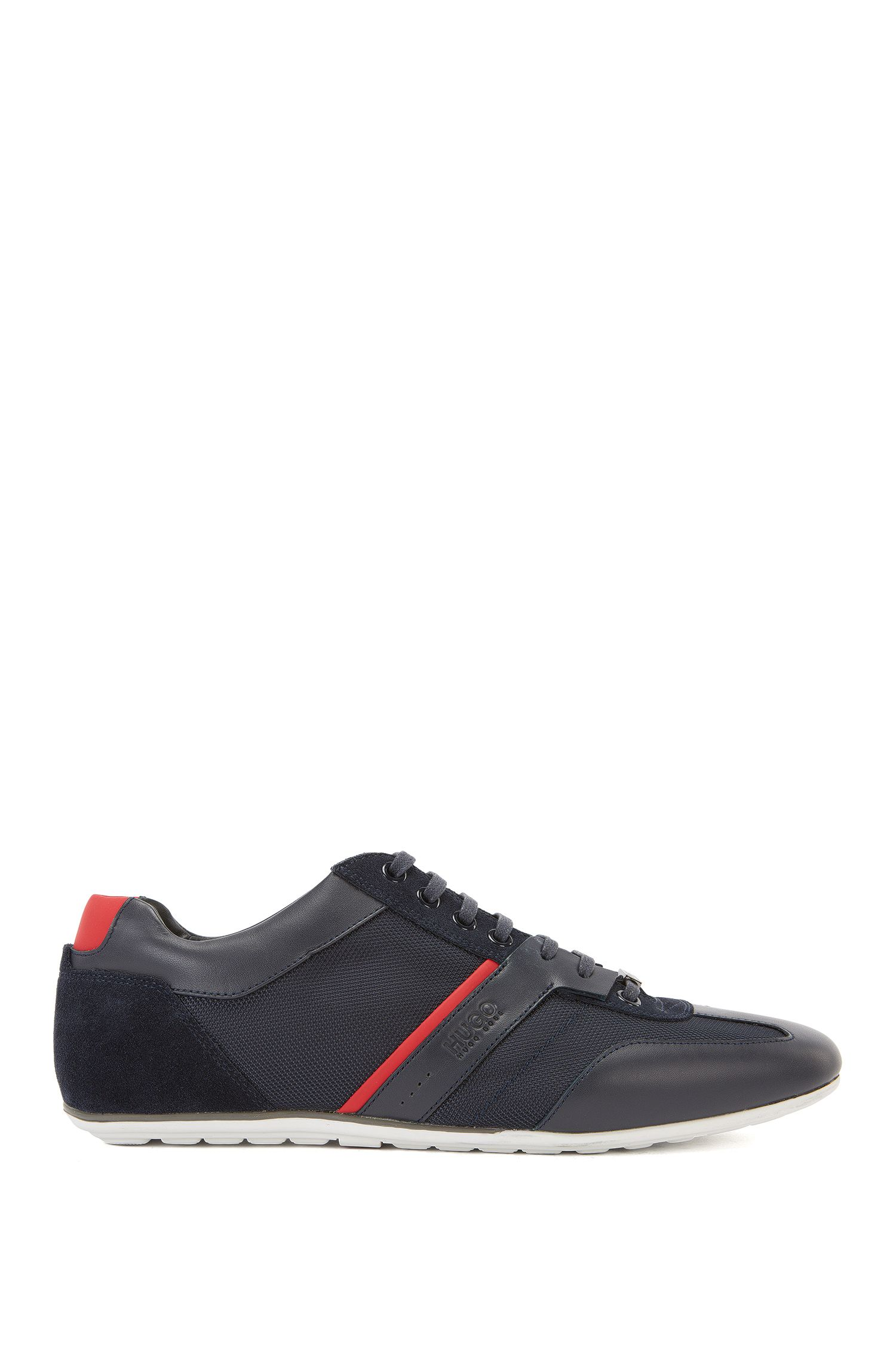 Sneakers low-top con rivestimenti in pelle