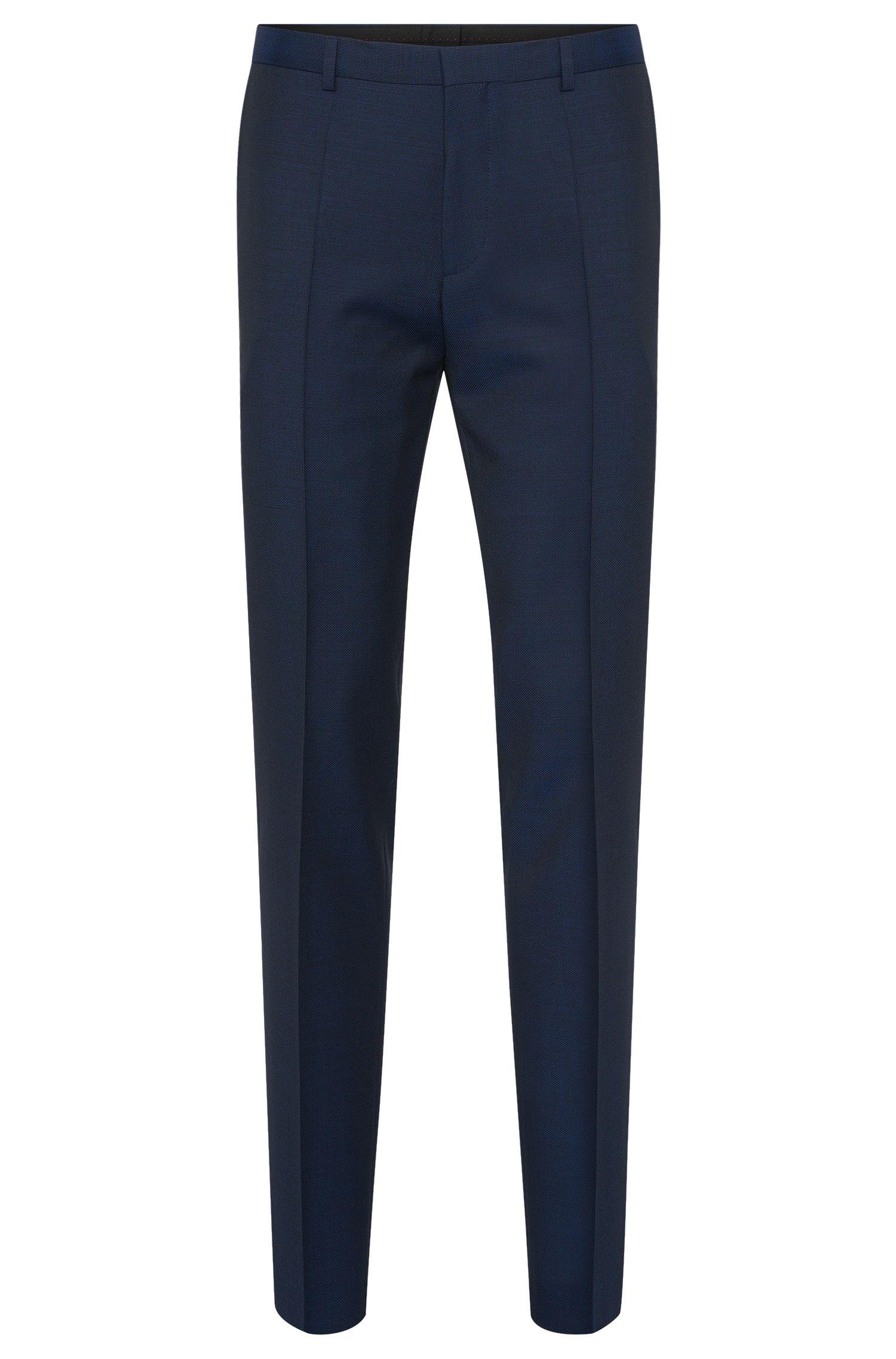 Pantalon à plis marqués Slim Fit en laine vierge: «HartleyS»