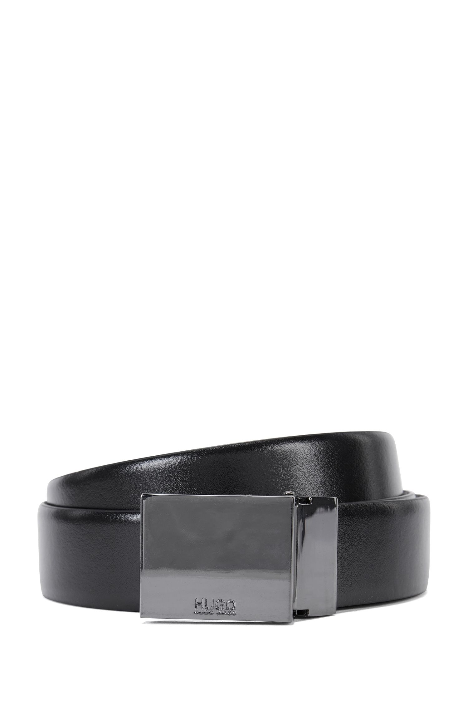 Reversible belt with double buckle