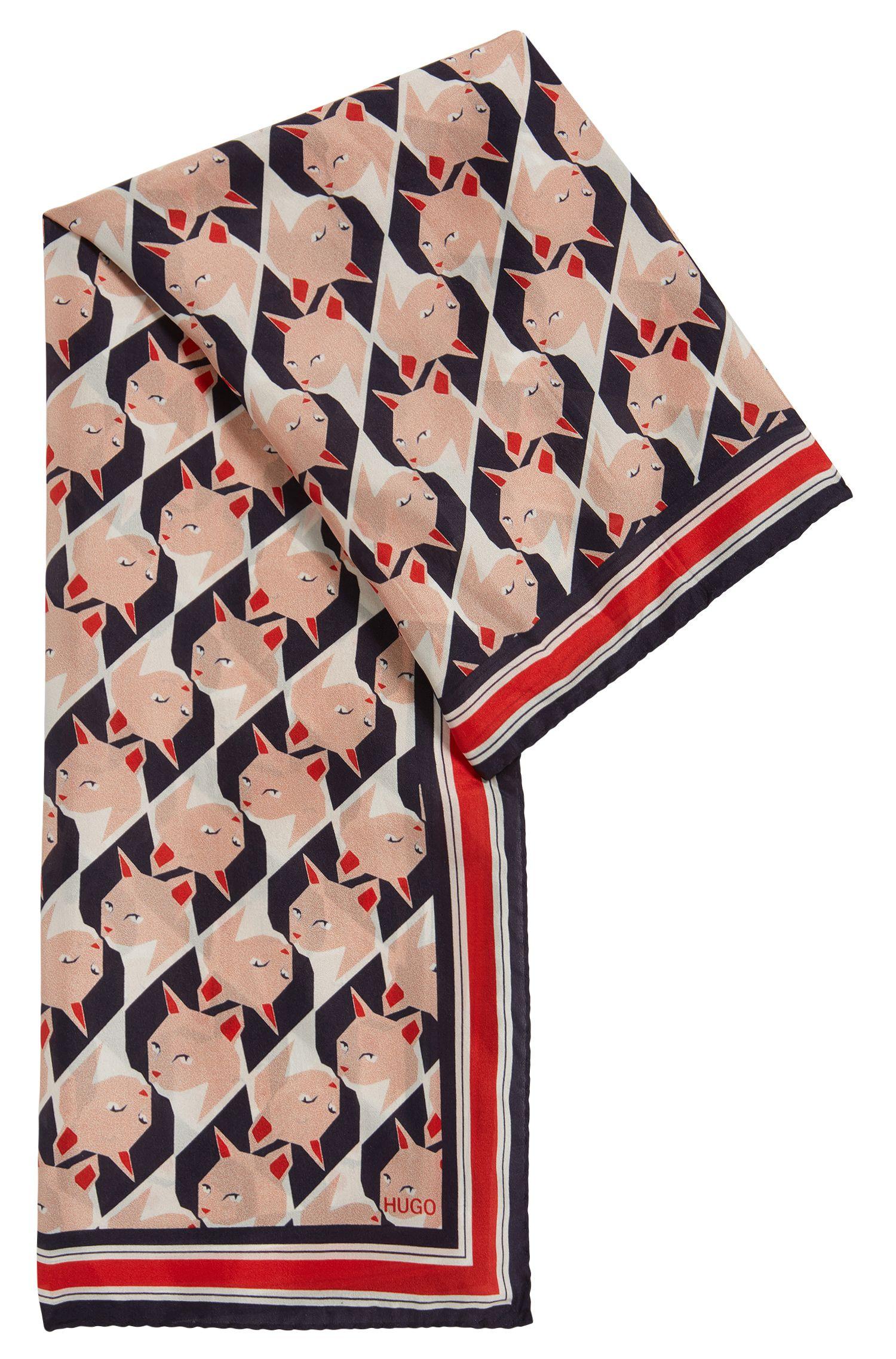 Foulard à imprimé en soie Habotai