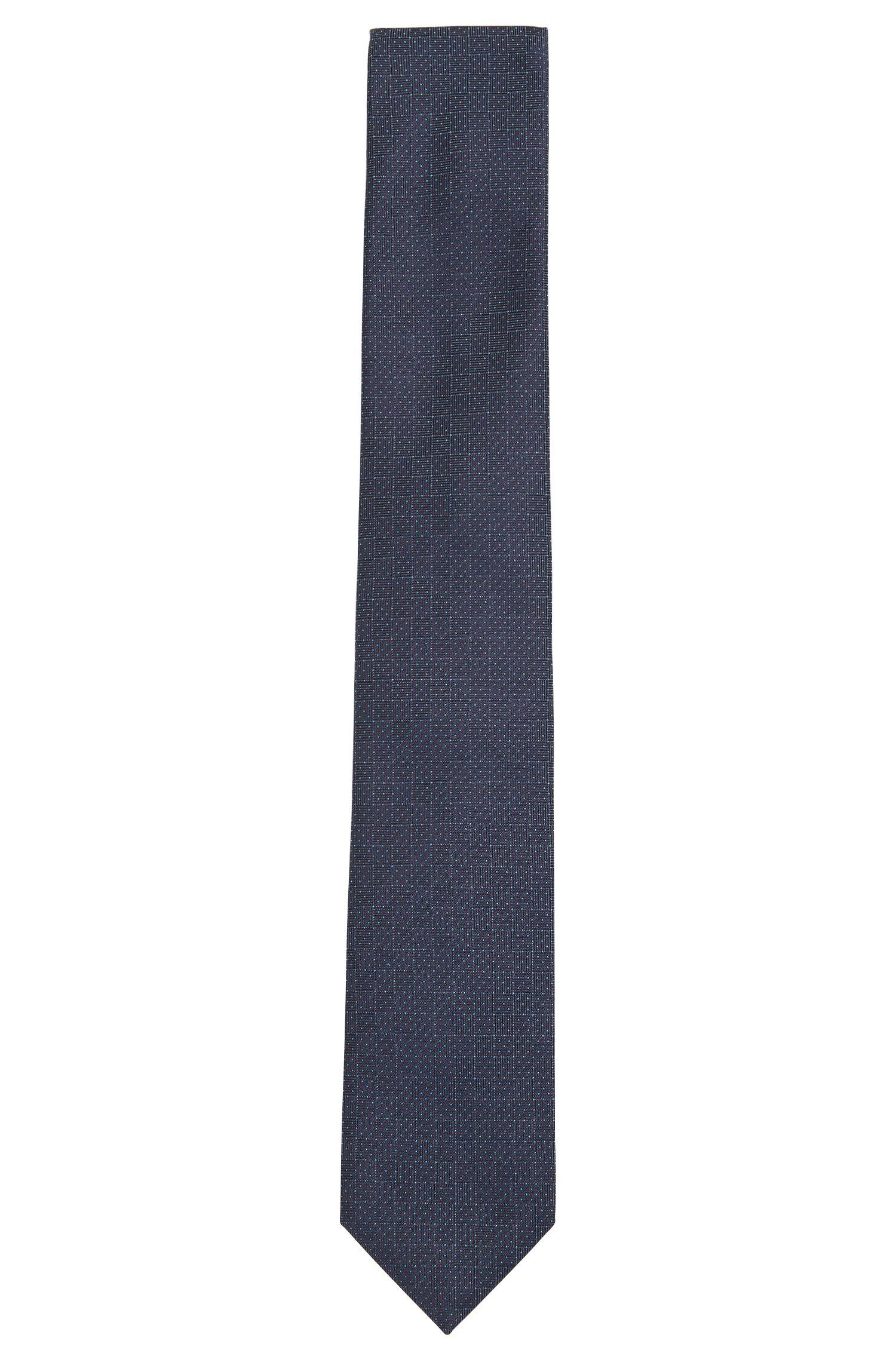 Cravate en jacquard de soie raffinée à motif à carreaux