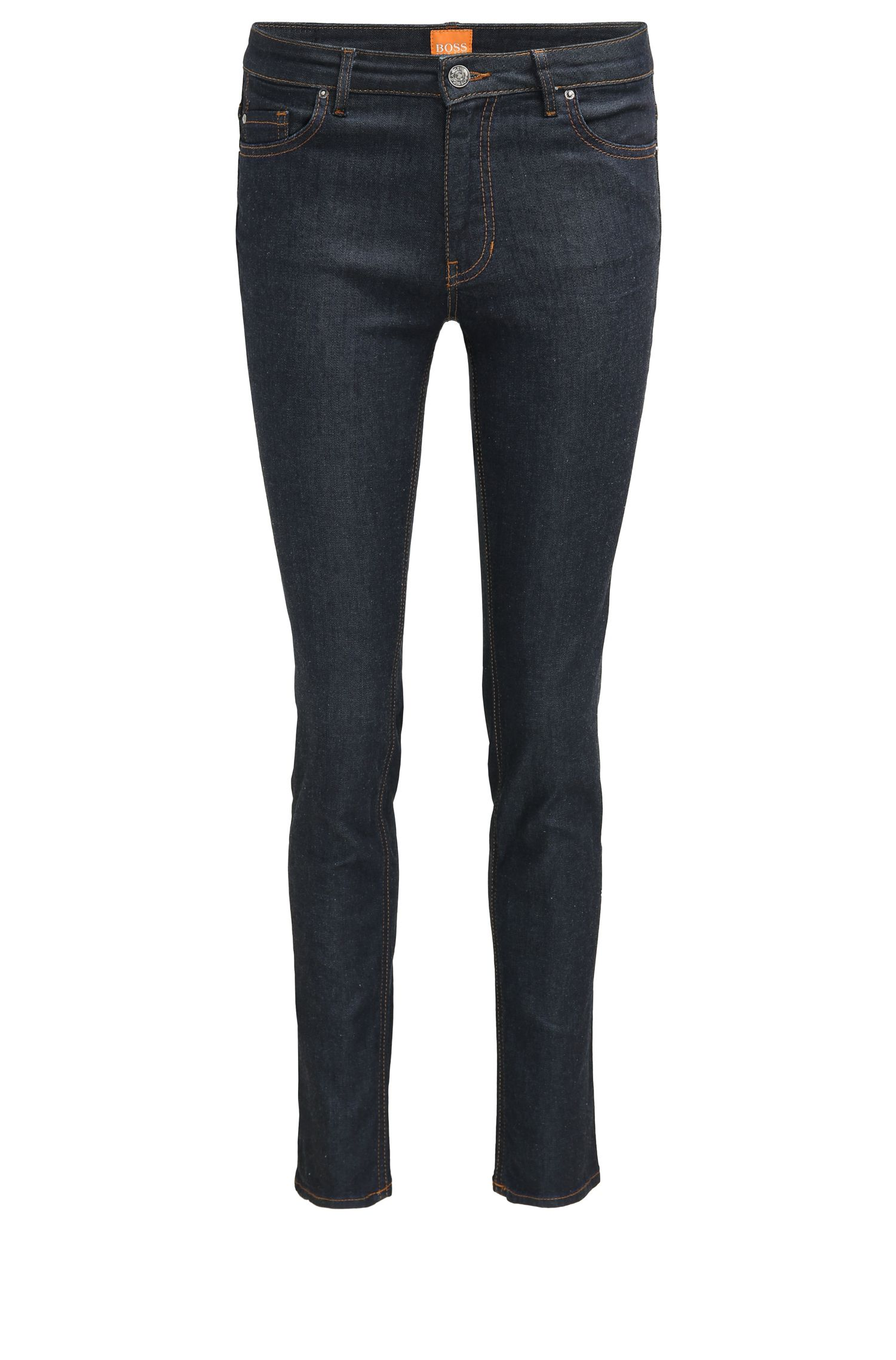 Slim-fit jeans van ruwe stretchdenim