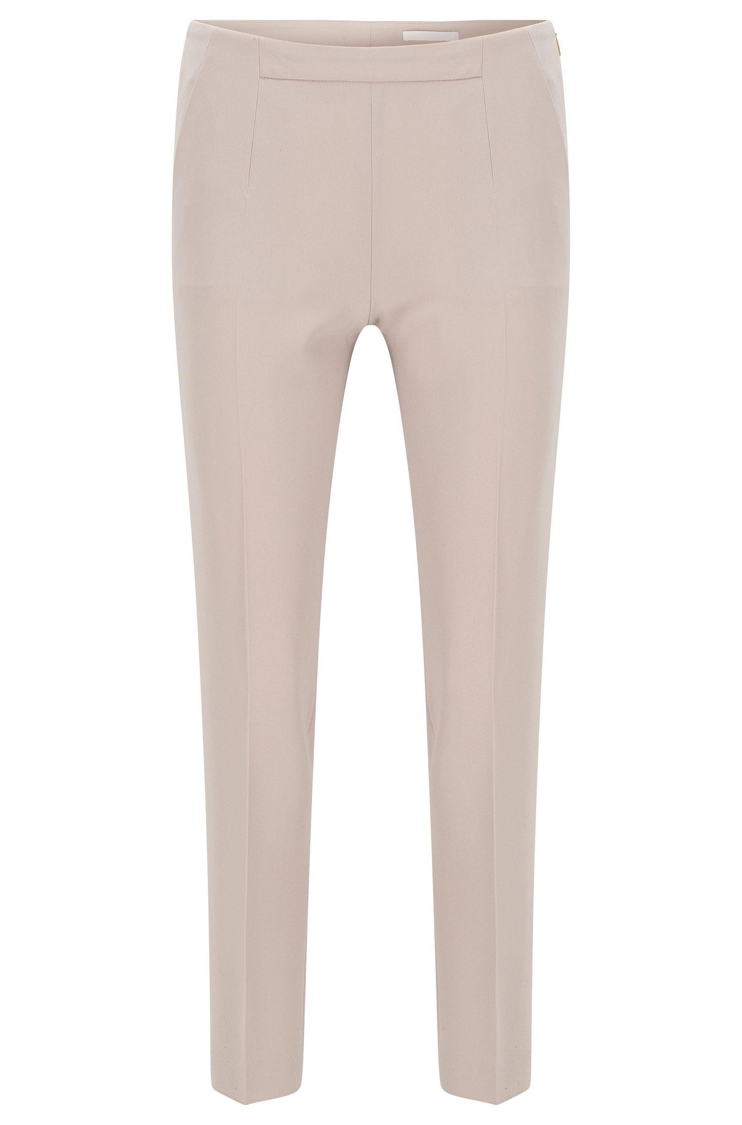 Slim-Fit Hose aus leichtem Krepp