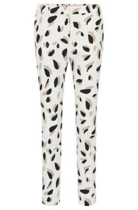 Pantalon Slim Fit à motif en mélange de matières extensible: «Timera», Fantaisie