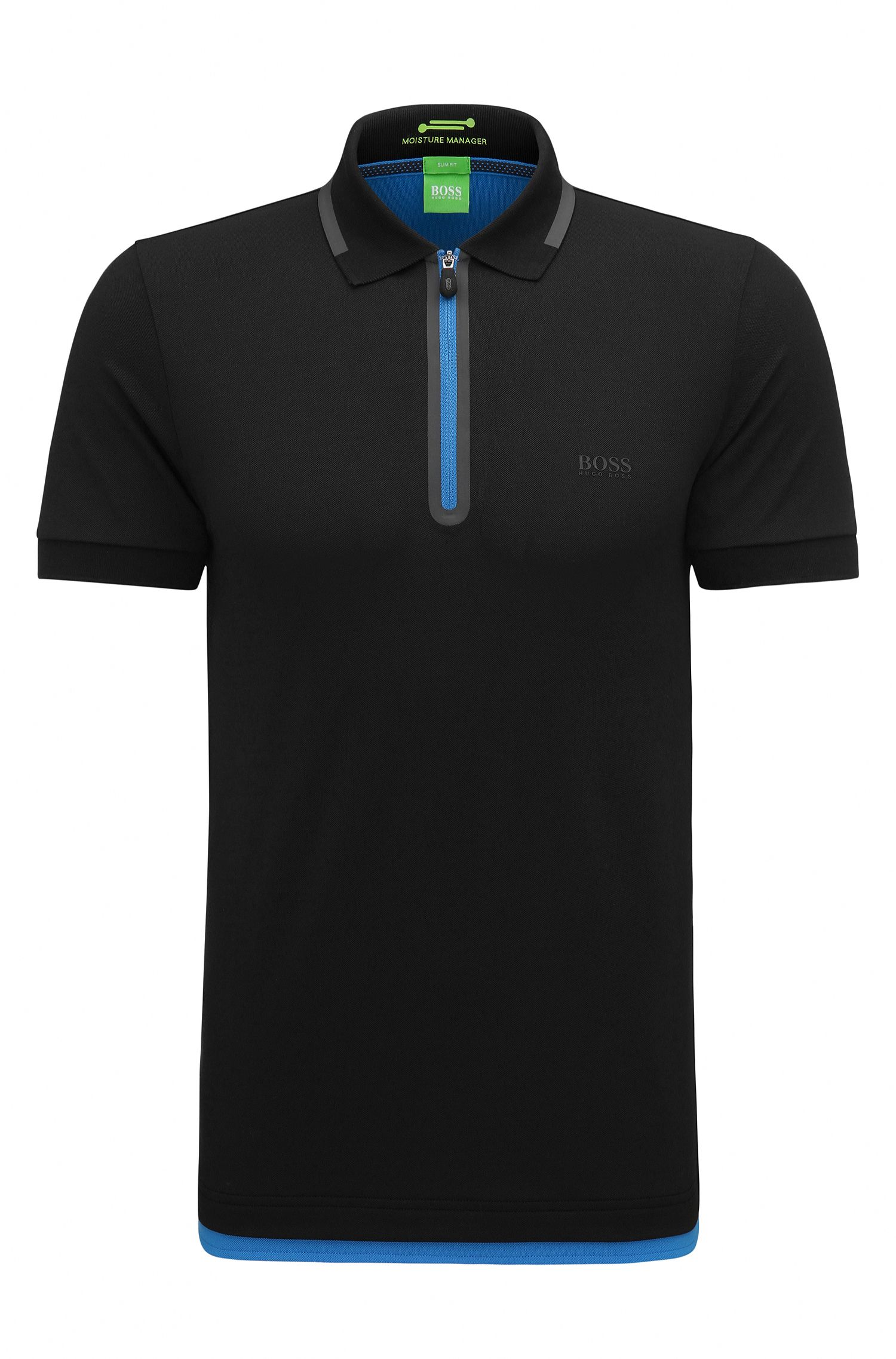 Slim-Fit Poloshirt aus Baumwoll-Mix