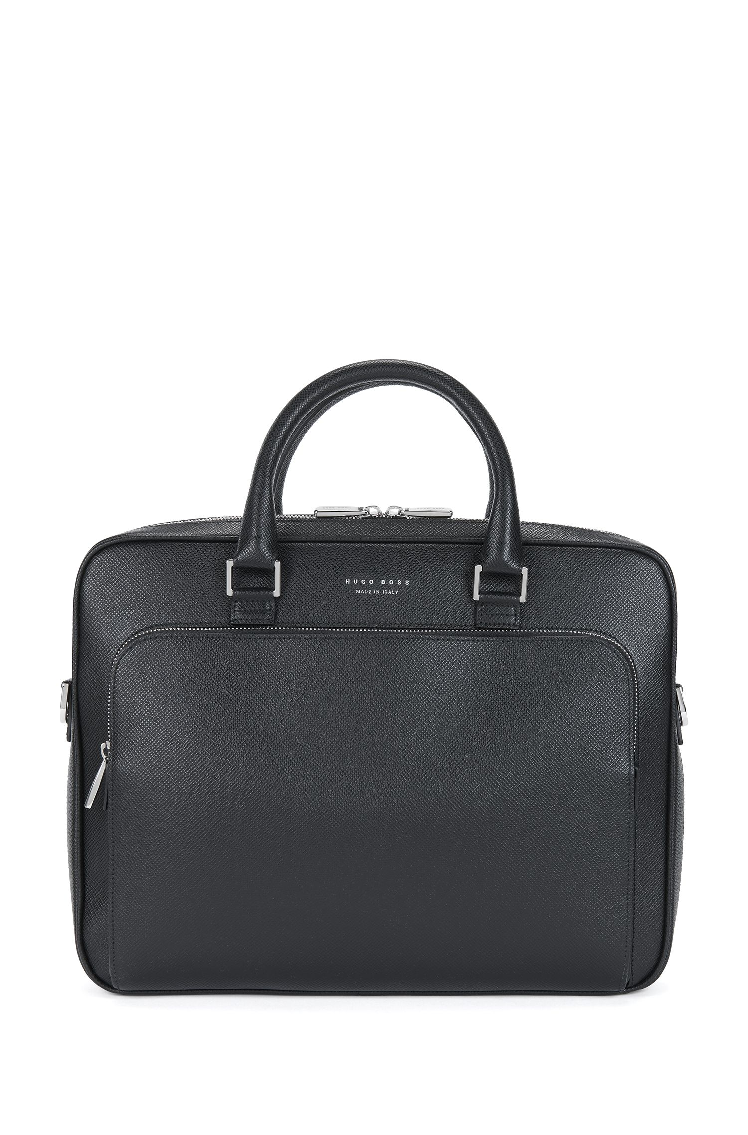 Porte-document BOSS de la collection Signature en cuir palmellato