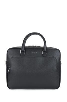 Signature Collection document case in palmellato leather, Black