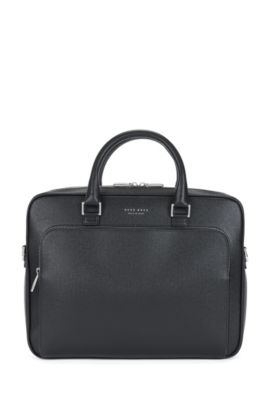 Signature Collection document case in palmellato leather, Black