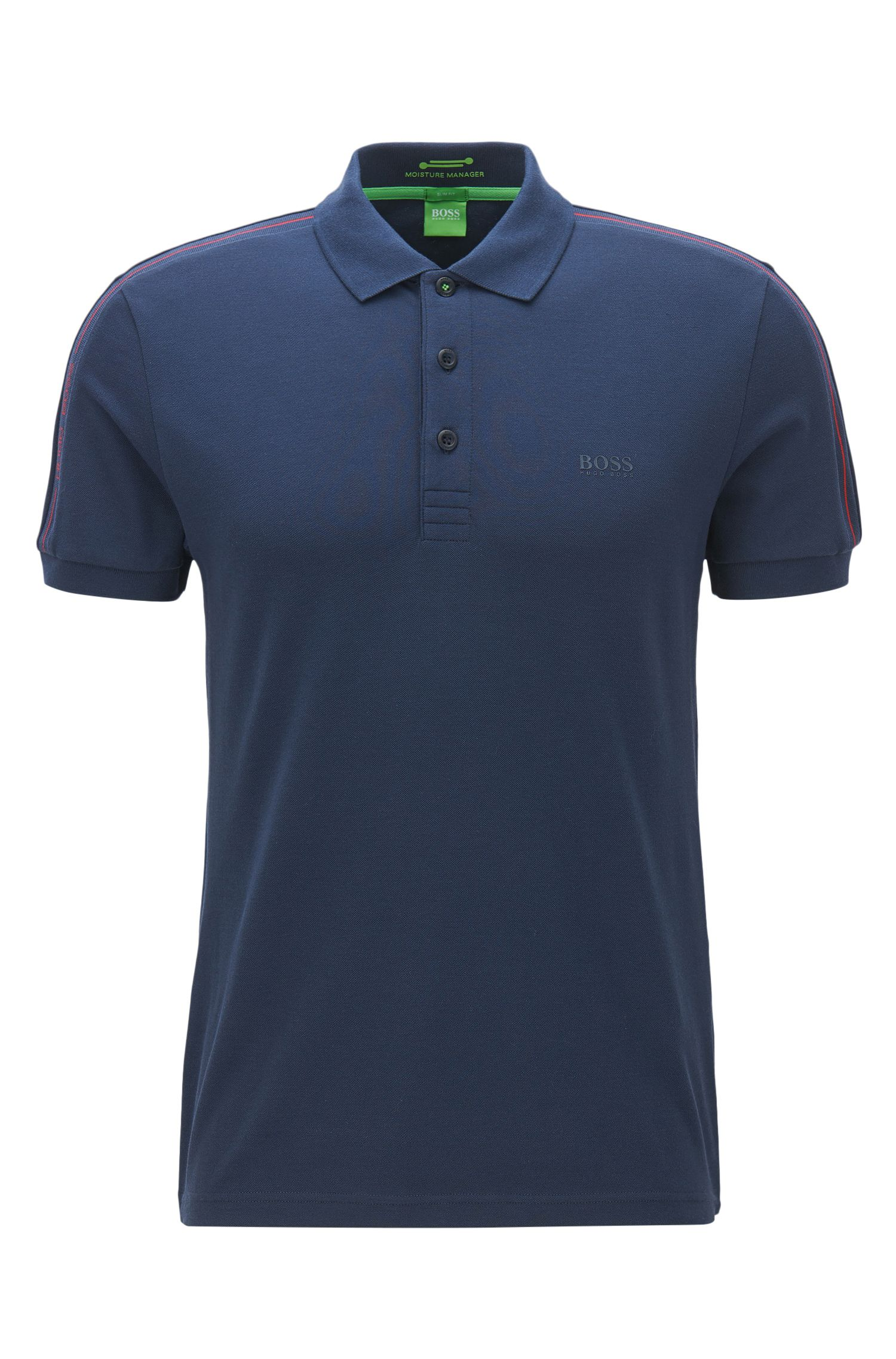 Slim-fit polo shirt in technical stretch fabric