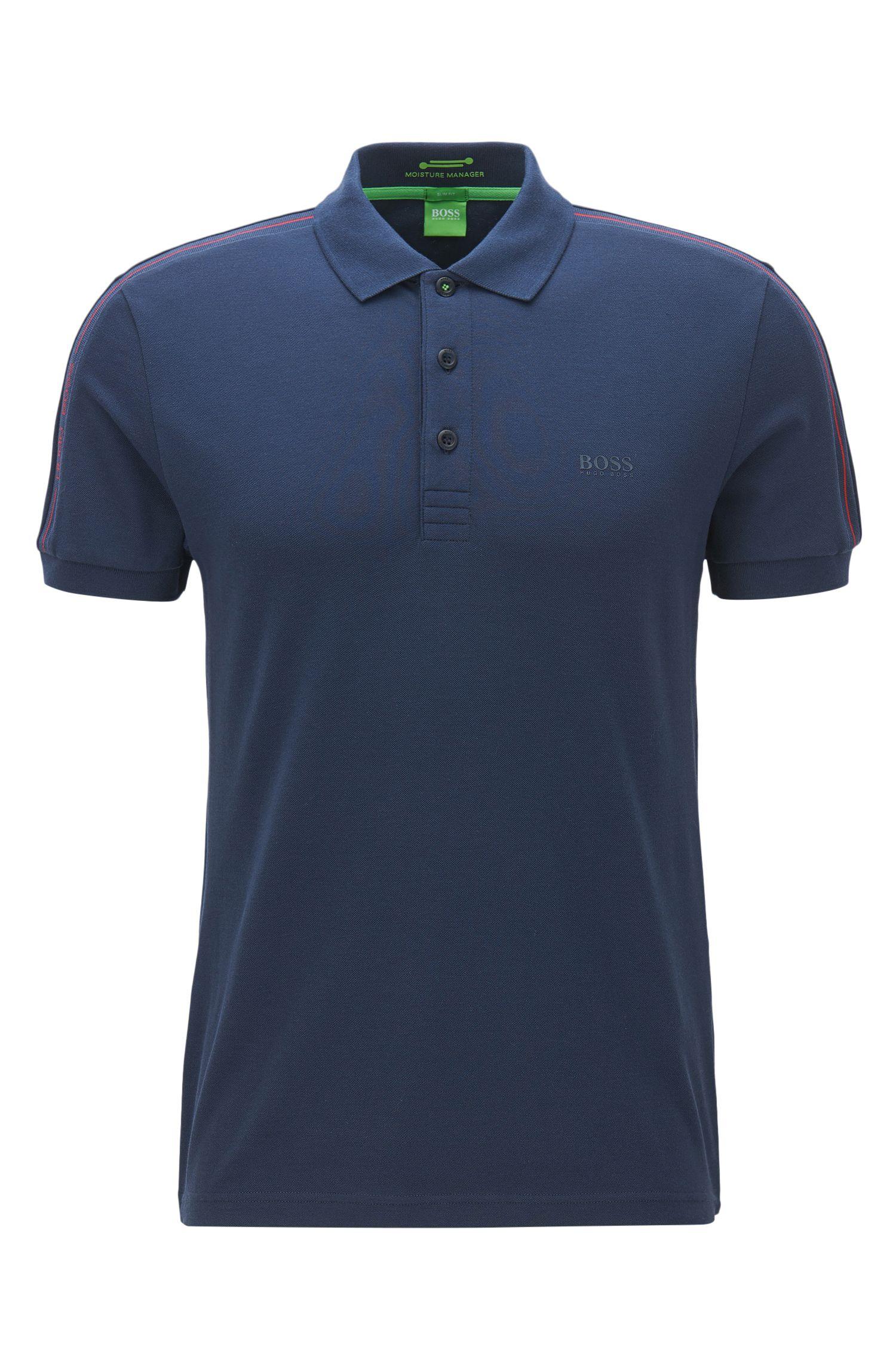 Slim-Fit Poloshirt aus elastischem Baumwoll-Mix