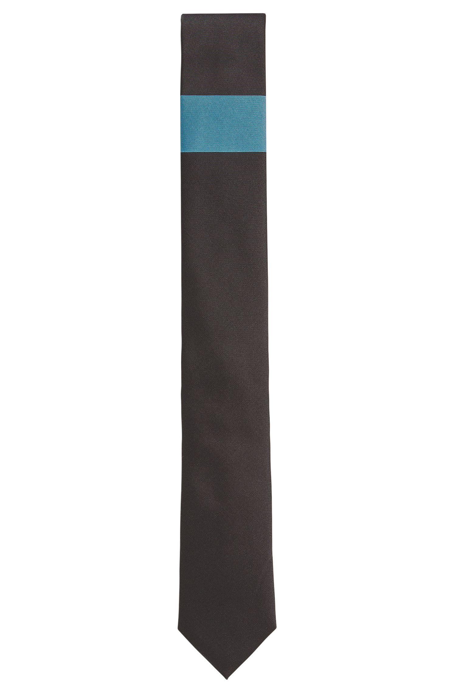 Seidenkrawatte mit horizontalem Colour-Block-Detail