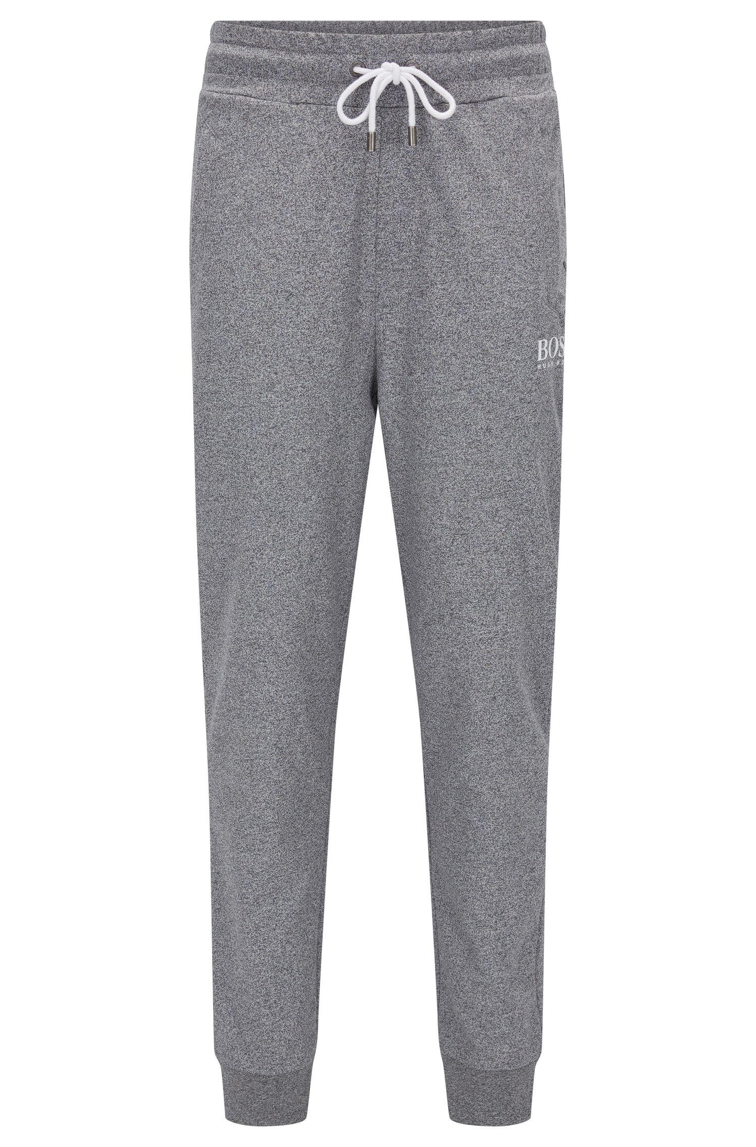 Cuffed loungewear bottoms in French terry