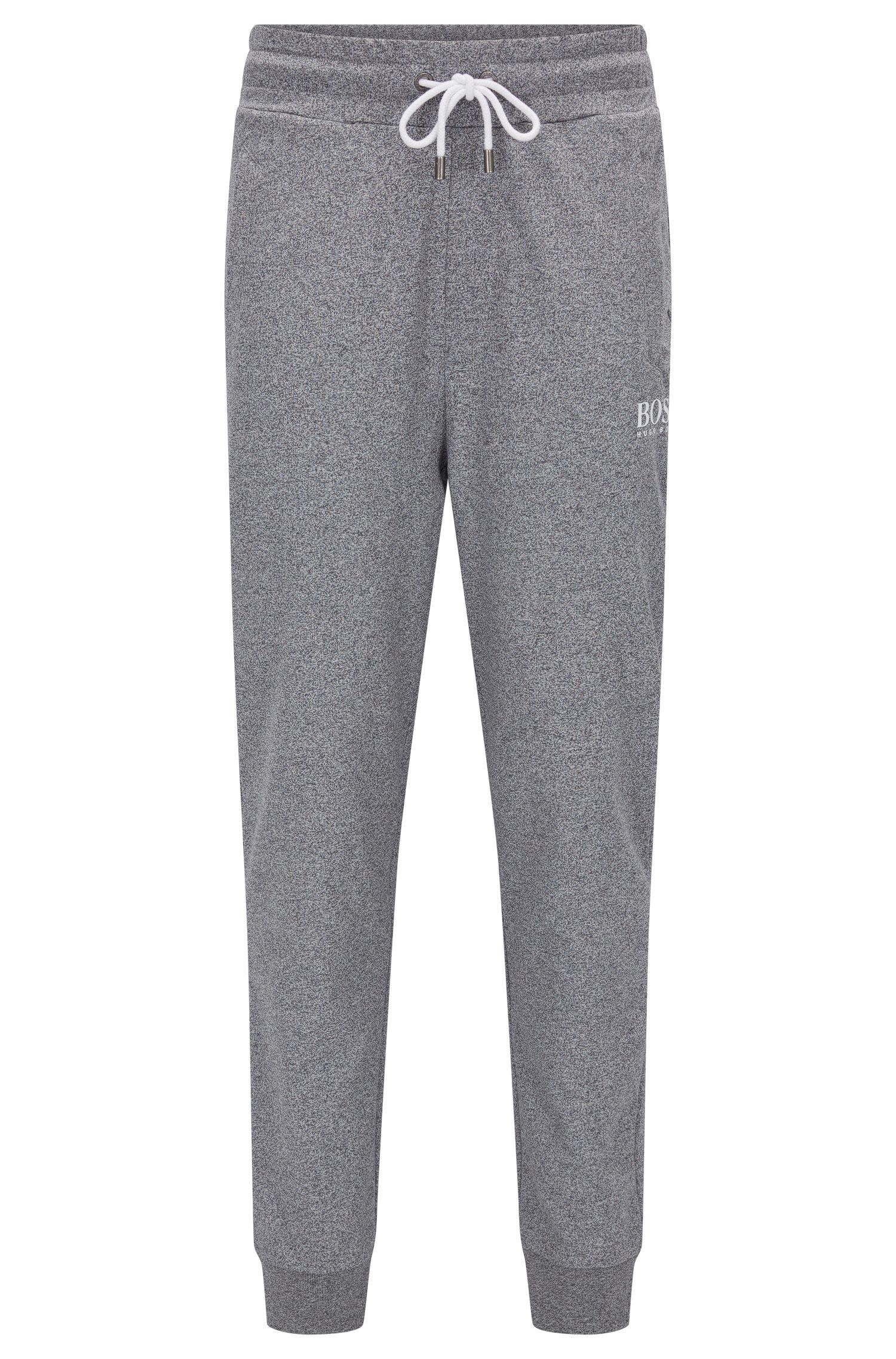 Pantalon d'intérieur en tissu éponge avec bordures côtelées au bas des jambes