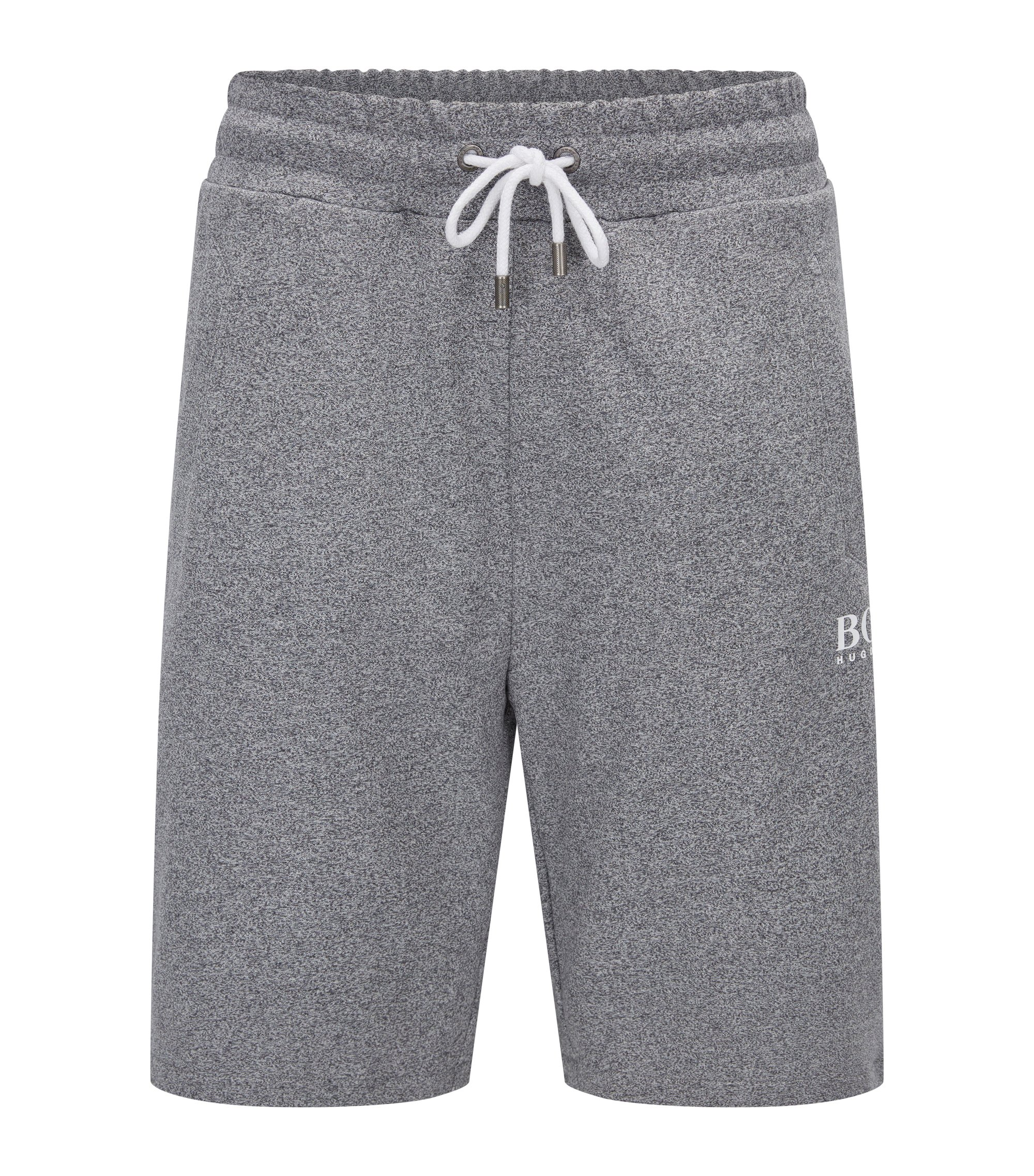 Loungewear shorts in French terry, Anthracite