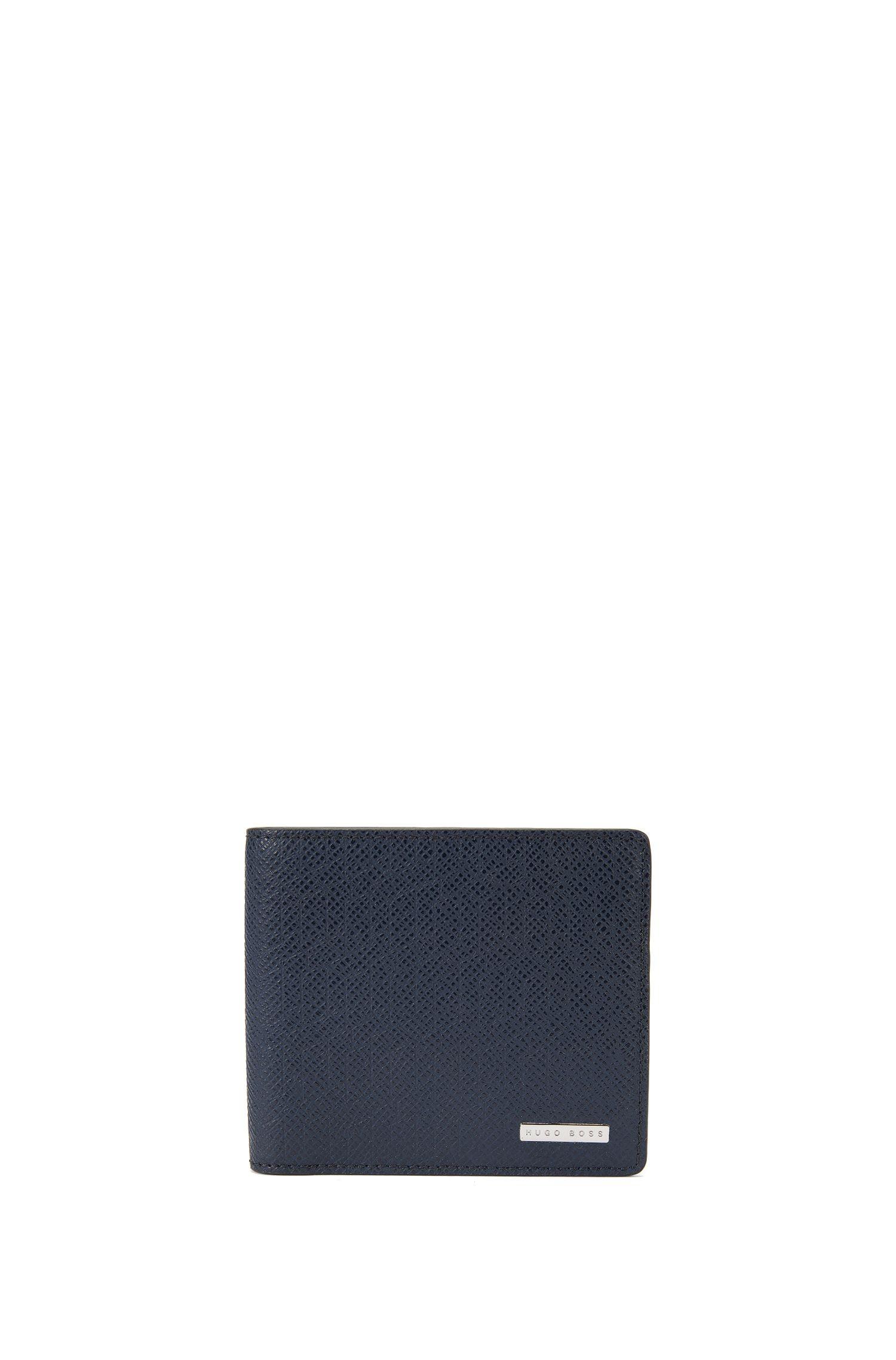 Openklapbare portemonnee van leer met 8 vakjes voor pasjes, uit de Signature Holiday Edition